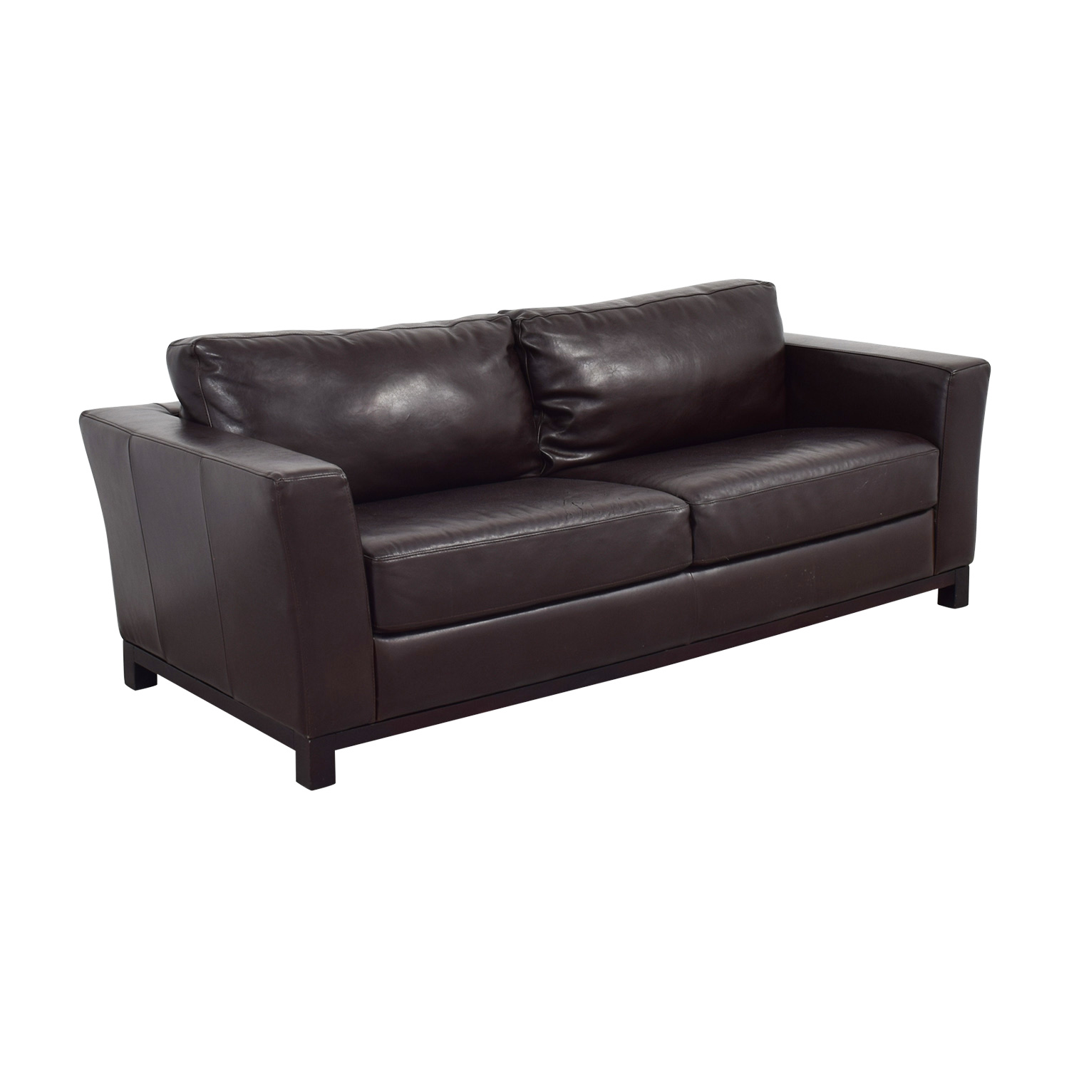 82 Off The Door Store The Door Store Mahogany Leather Sofa Sofas