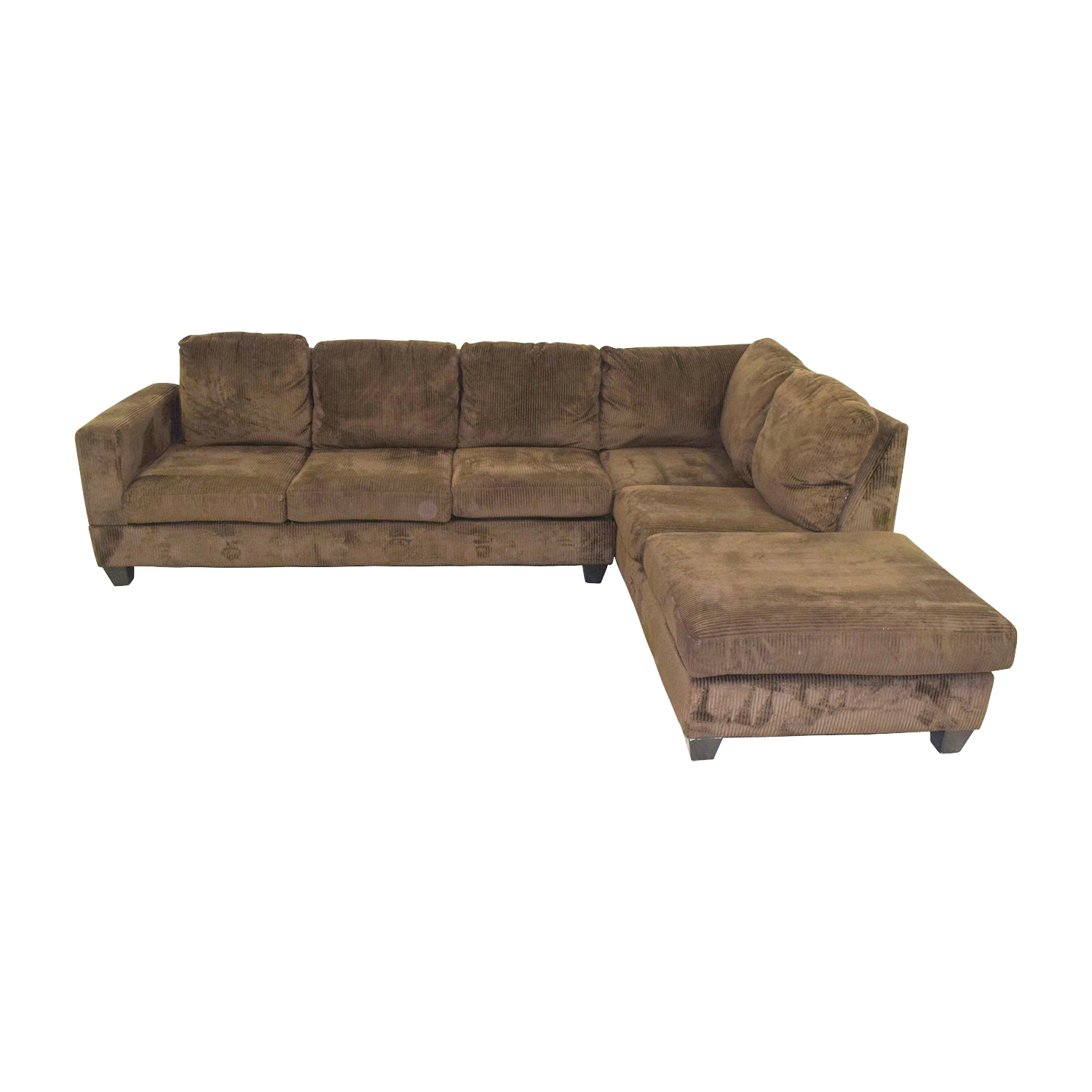 Outstanding 80 Off Jennifer Furniture Jennifer Convertibles Corduroy Brown Sectional Sofas Creativecarmelina Interior Chair Design Creativecarmelinacom