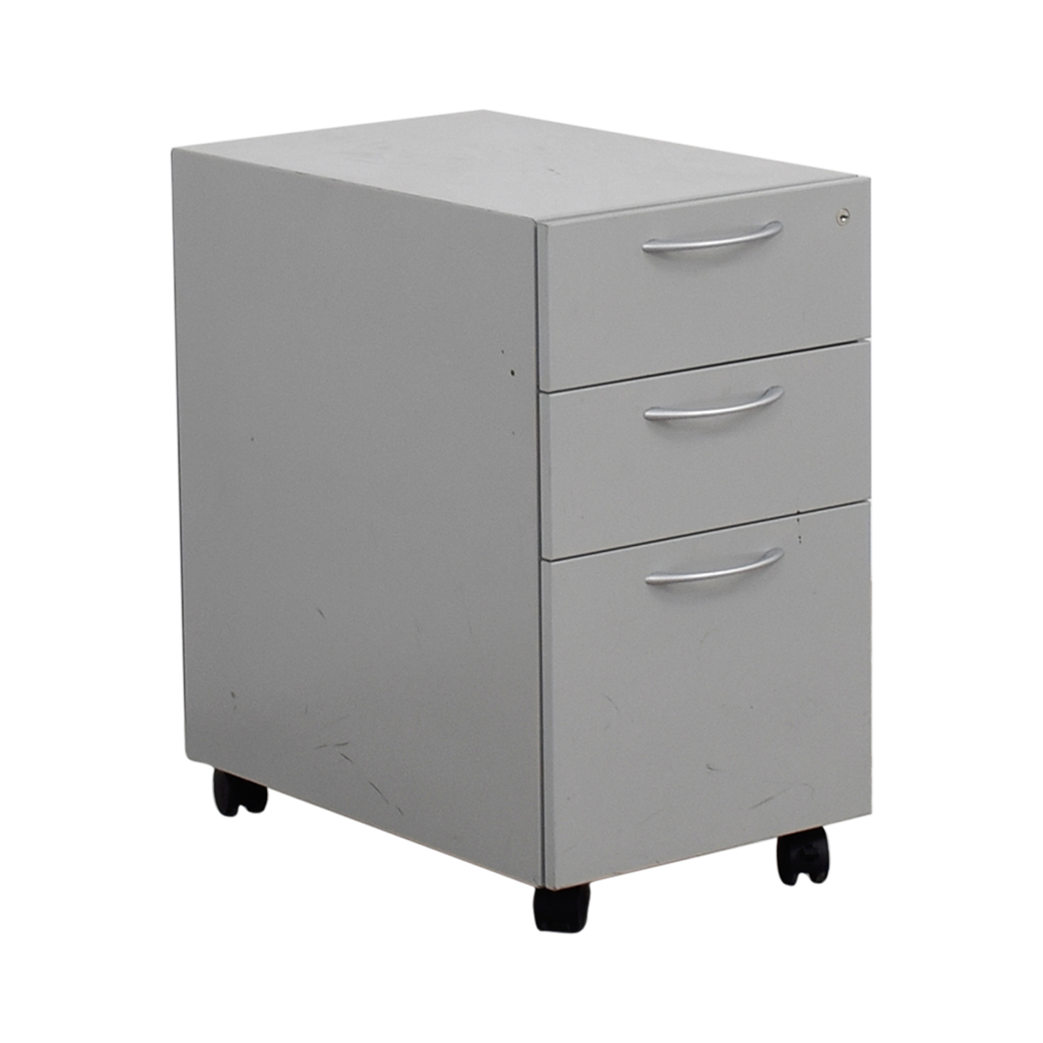 Allsteel Light Grey Two Drawer Cabinet On Casters Filing