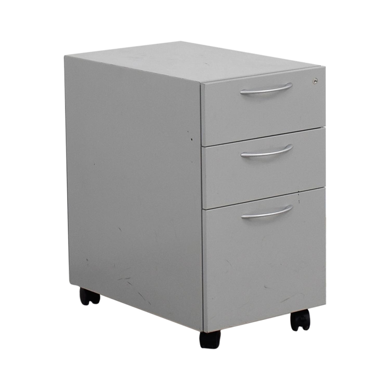 buy Allsteel Allsteel Light Grey Two-Drawer Cabinet on Casters online