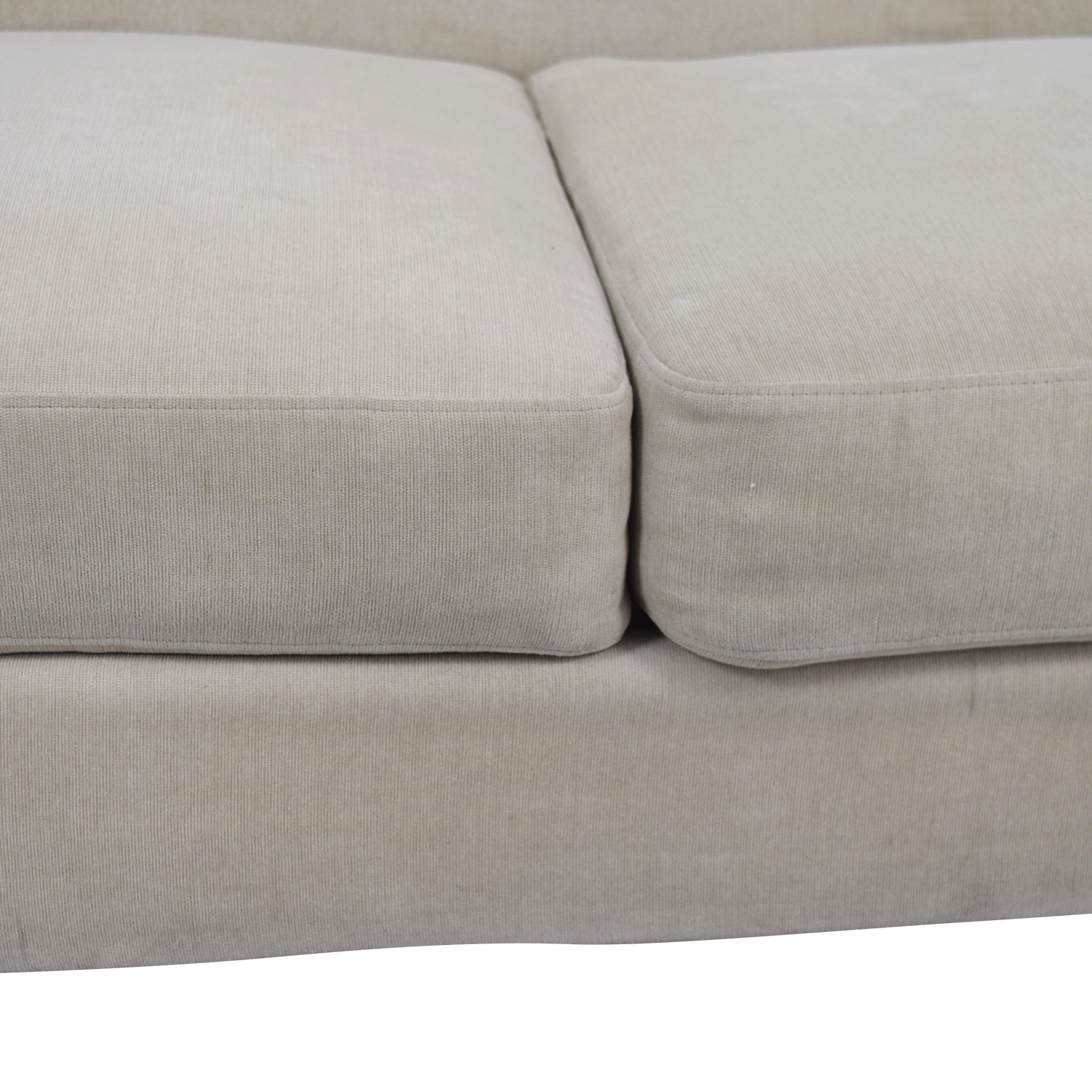 Raymour and Flanigan Raymour & Flanigan Beige Tufted Couch beige