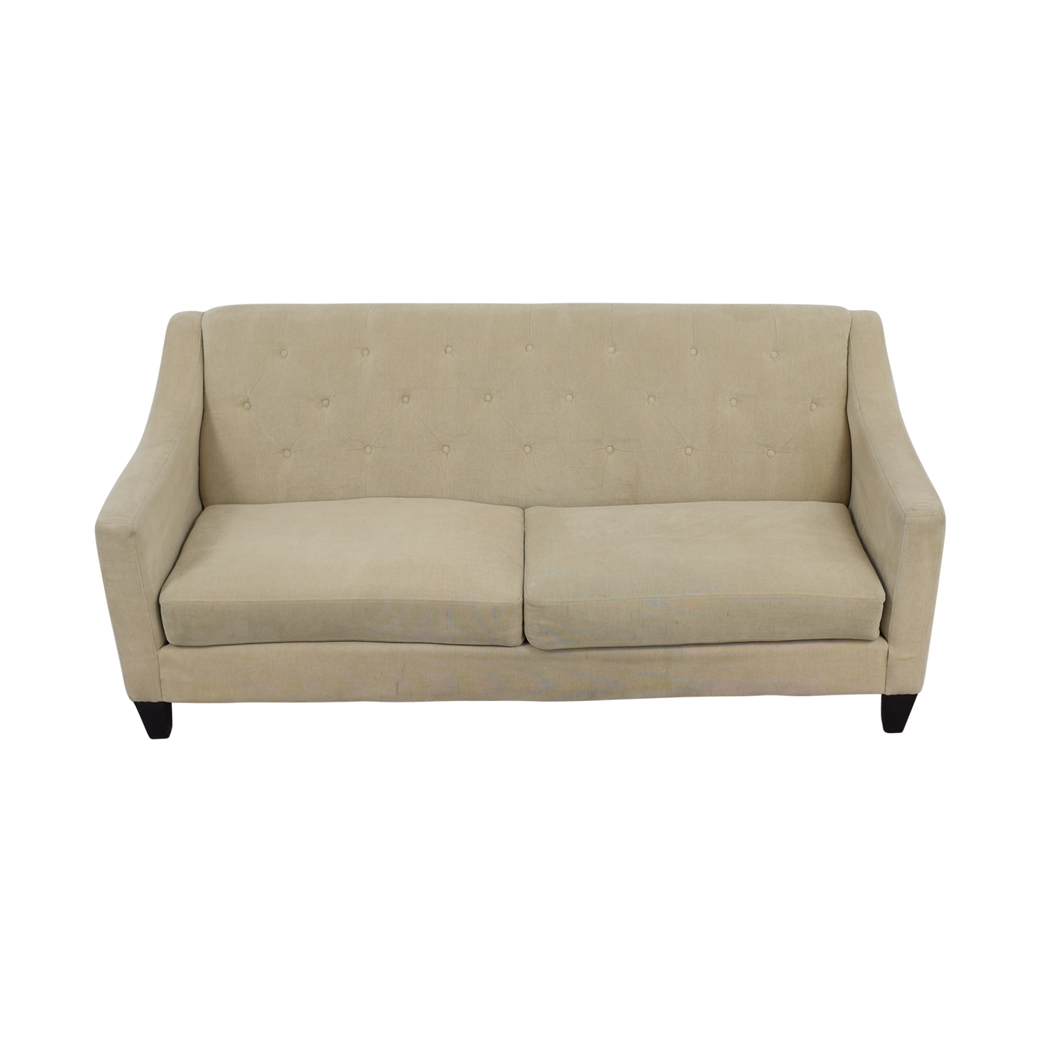 Raymour and Flanigan Raymour & Flanigan Beige Tufted Couch second hand