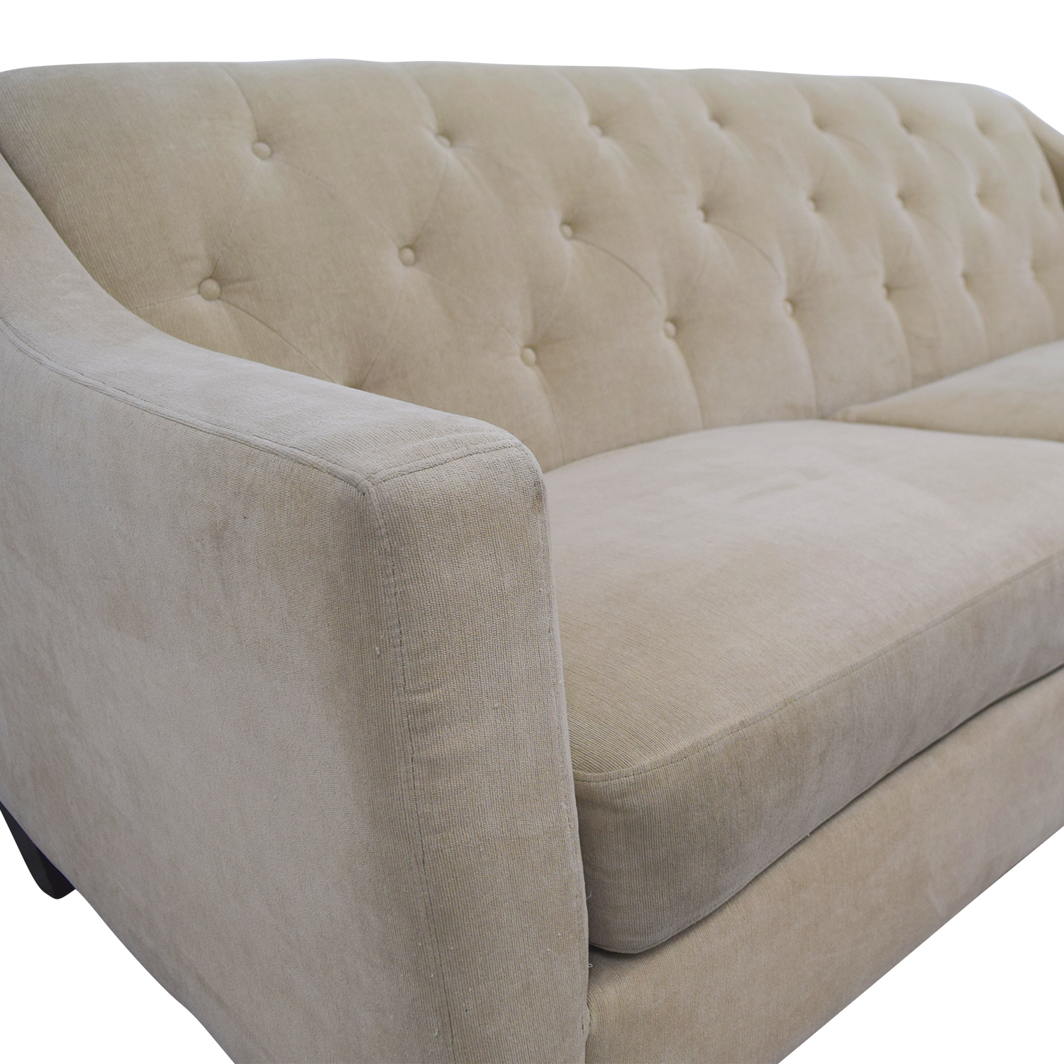 buy Raymour & Flanigan Beige Tufted Couch Raymour and Flanigan Classic Sofas