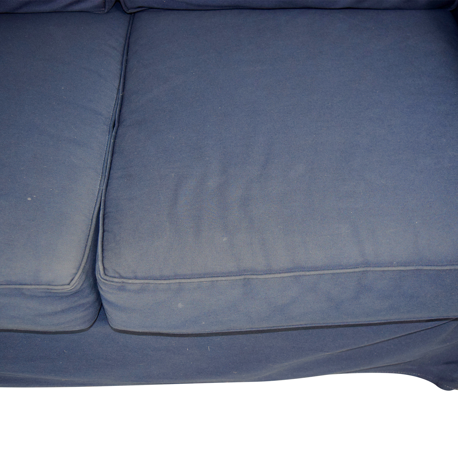 shop Pottery Barn Pottery Barn Cameron Navy Twill Slipcovered Loveseat online