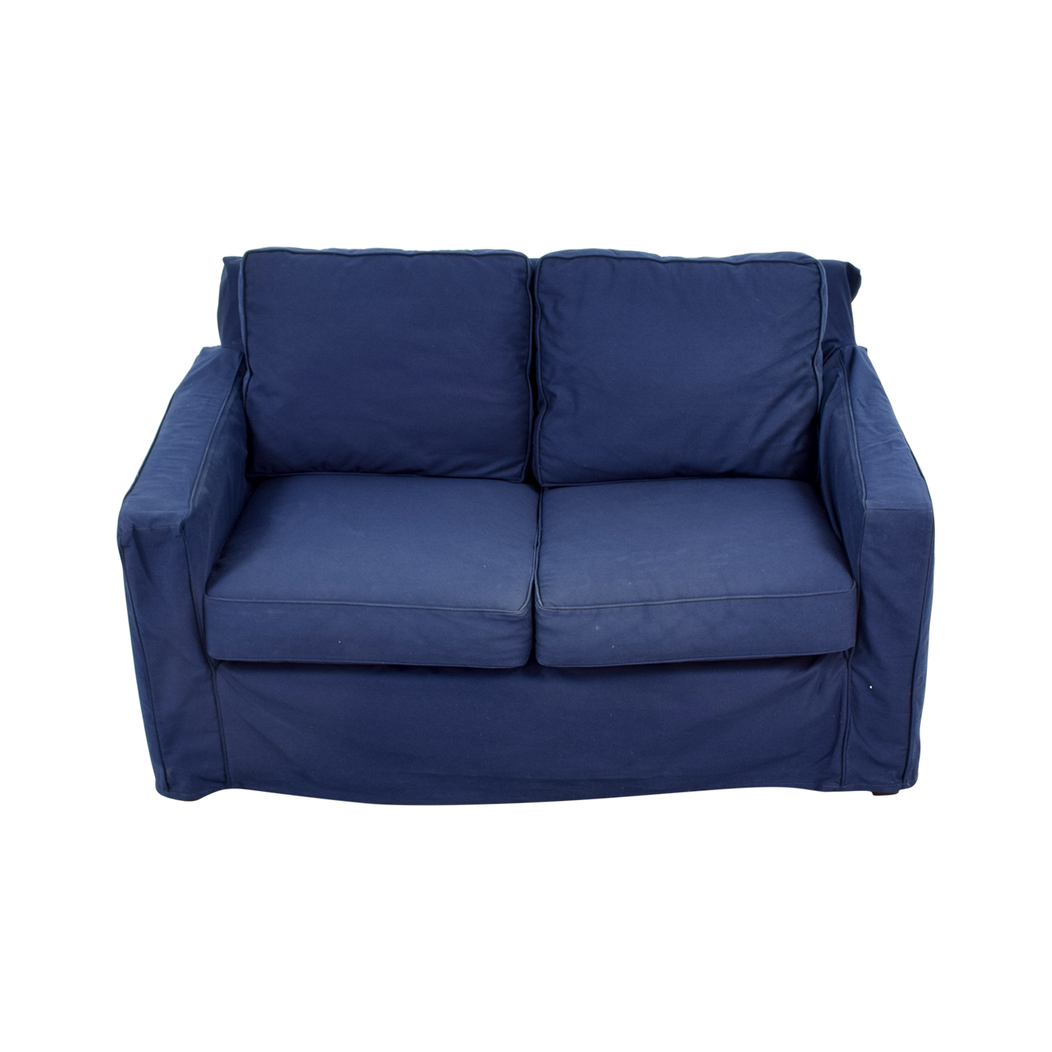 buy Pottery Barn Pottery Barn Cameron Navy Twill Slipcovered Loveseat online