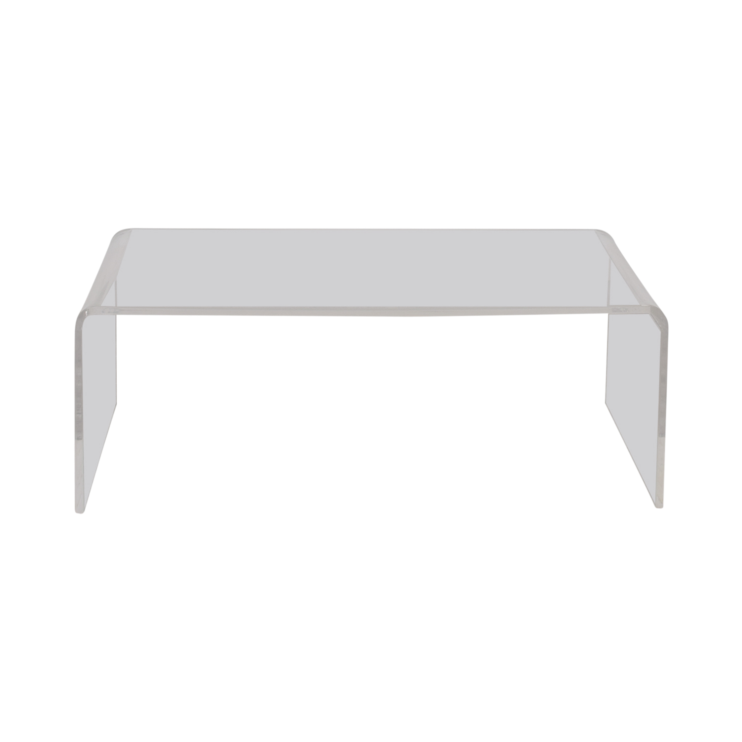 OFF CB CB Peekaboo Acrylic Coffee Table Tables - Cb2 peekaboo coffee table