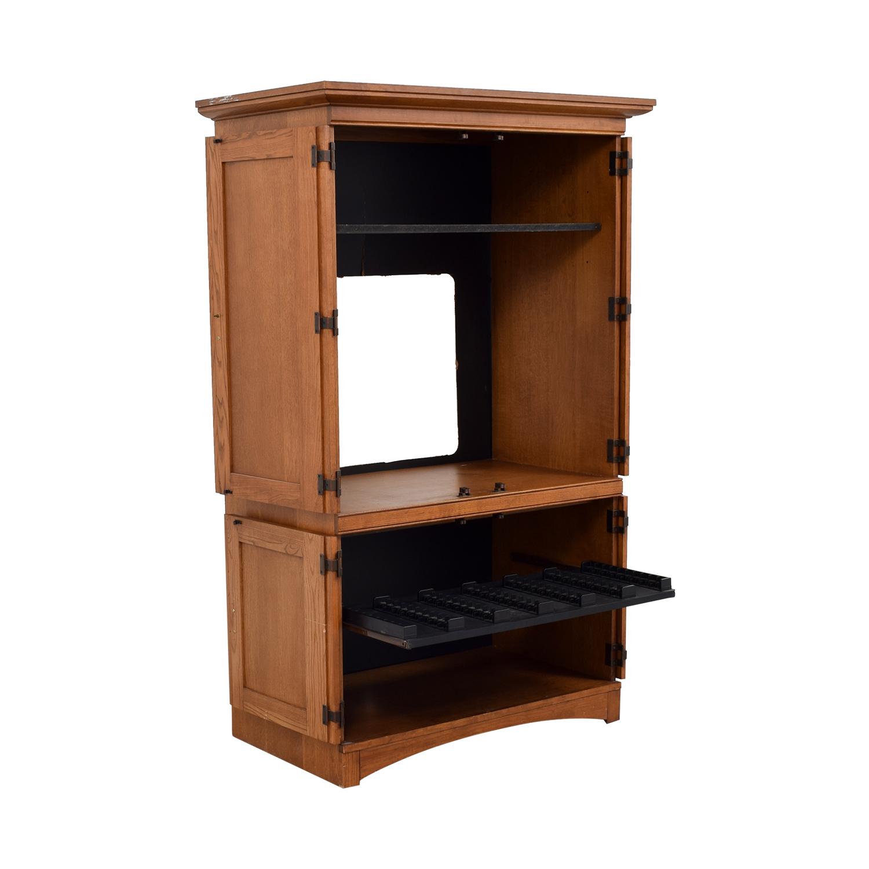 Wood Armoire Media Cabinet used