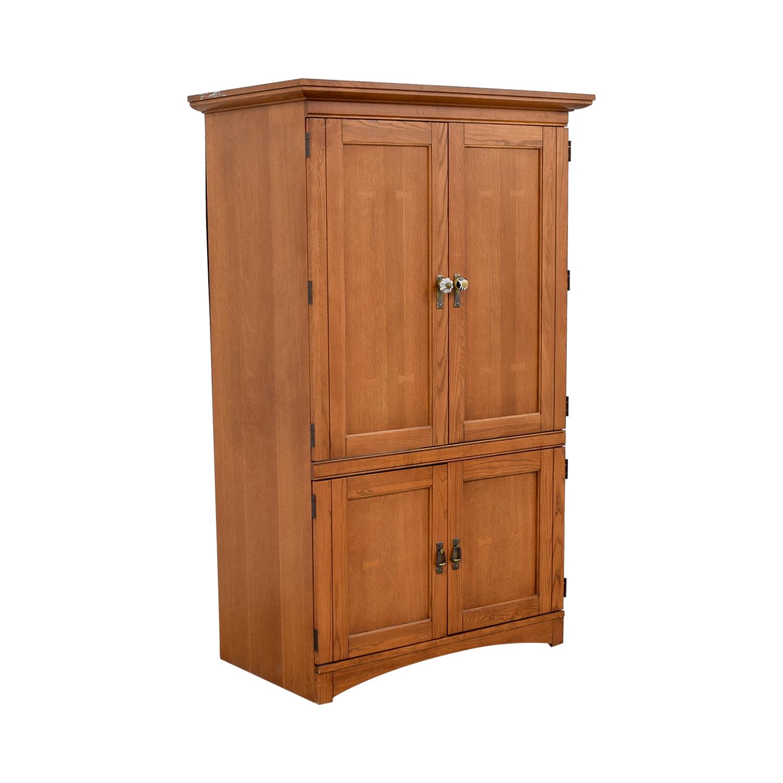 Wood Armoire Media Cabinet sale