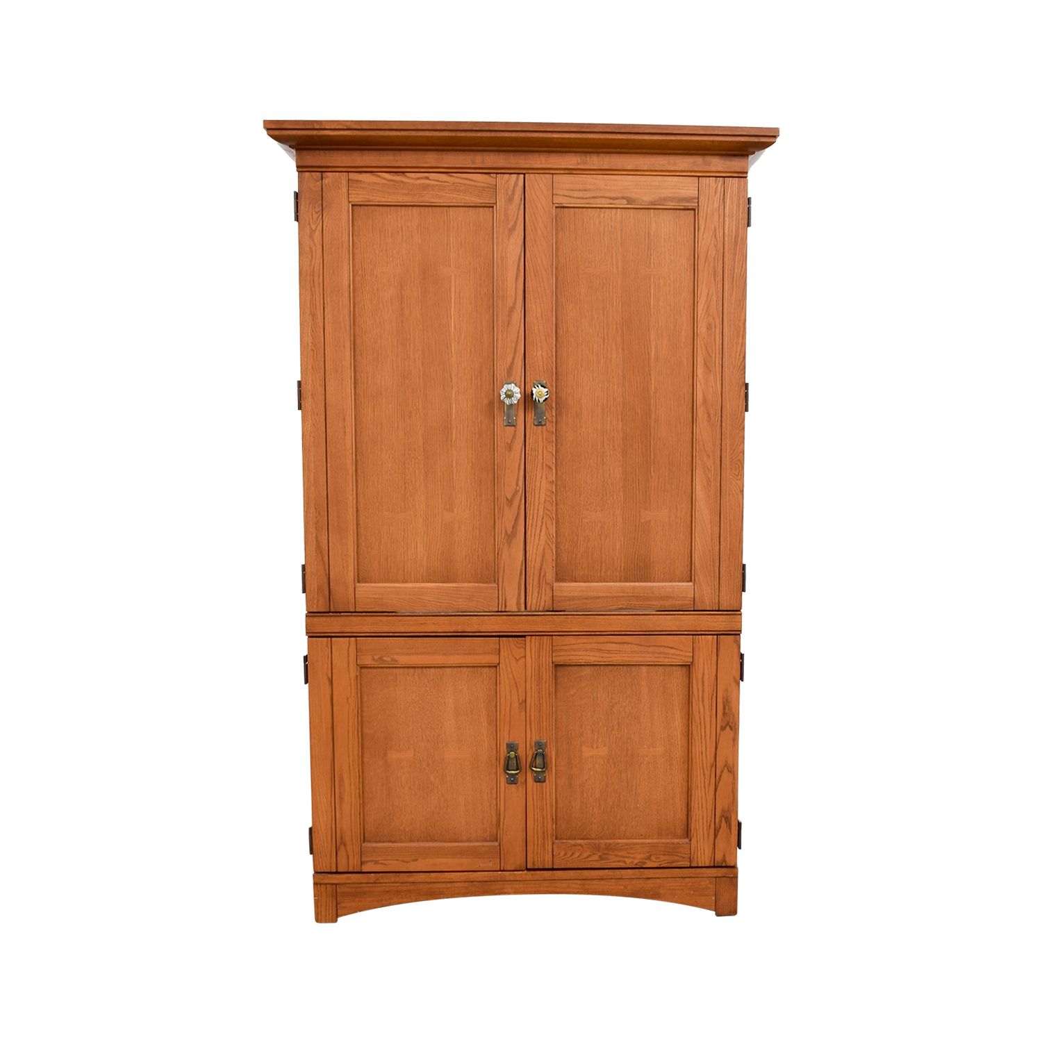 Bon Shop Wood Armoire Media Cabinet ...