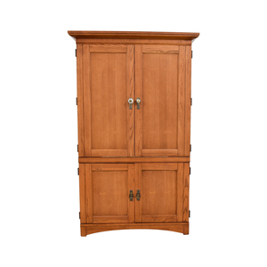 Wood Armoire Media Cabinet
