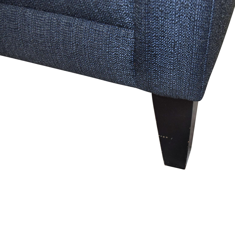shop Crate & Barrel Crate & Barrel Blue Single Cushion Sofa online