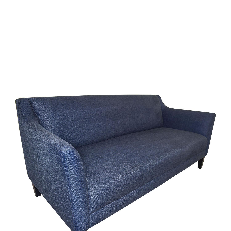 buy Crate & Barrel Blue Single Cushion Sofa Crate & Barrel Classic Sofas