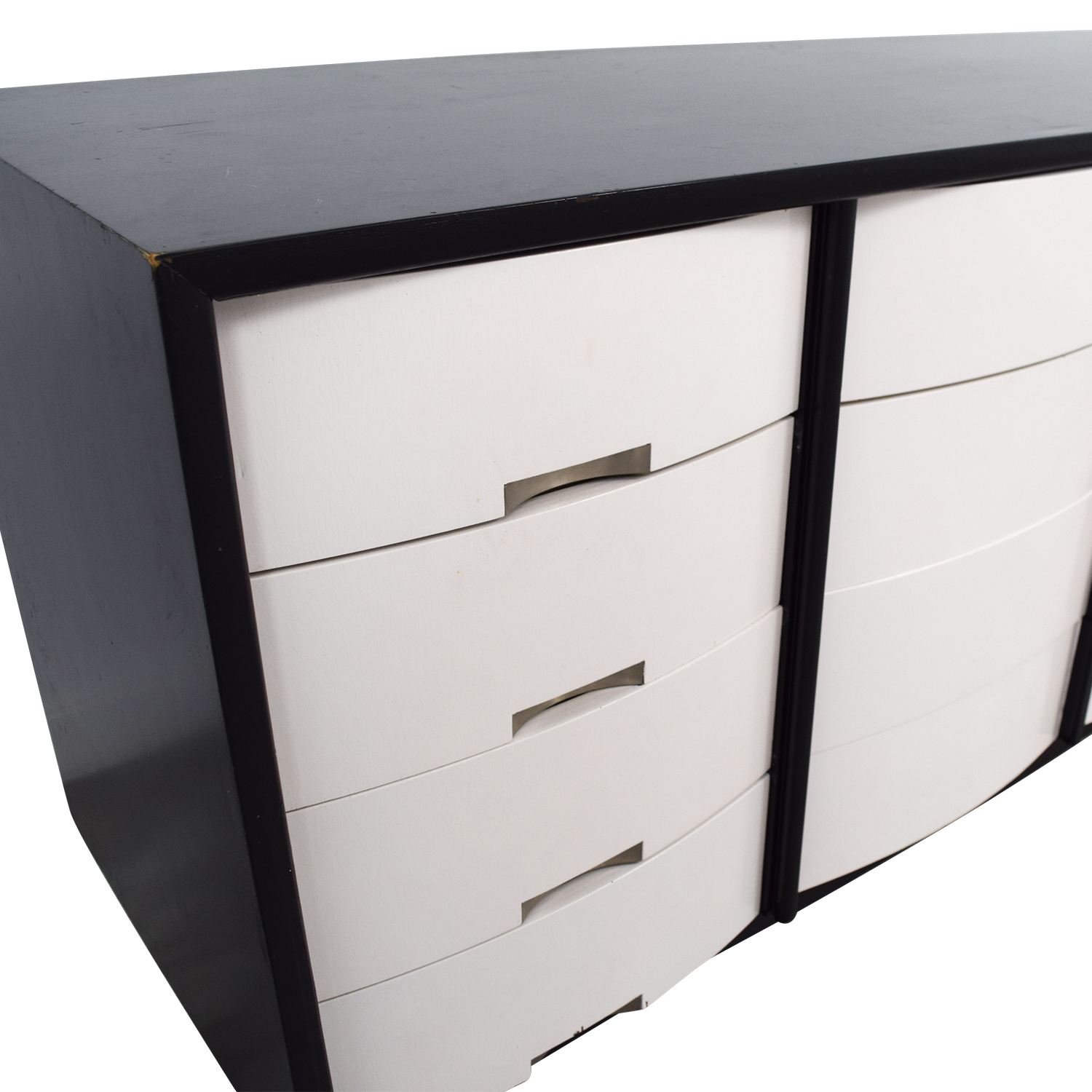 American of Martinsville American of Martinsville Black and White Buffet Table or Credenza Storage