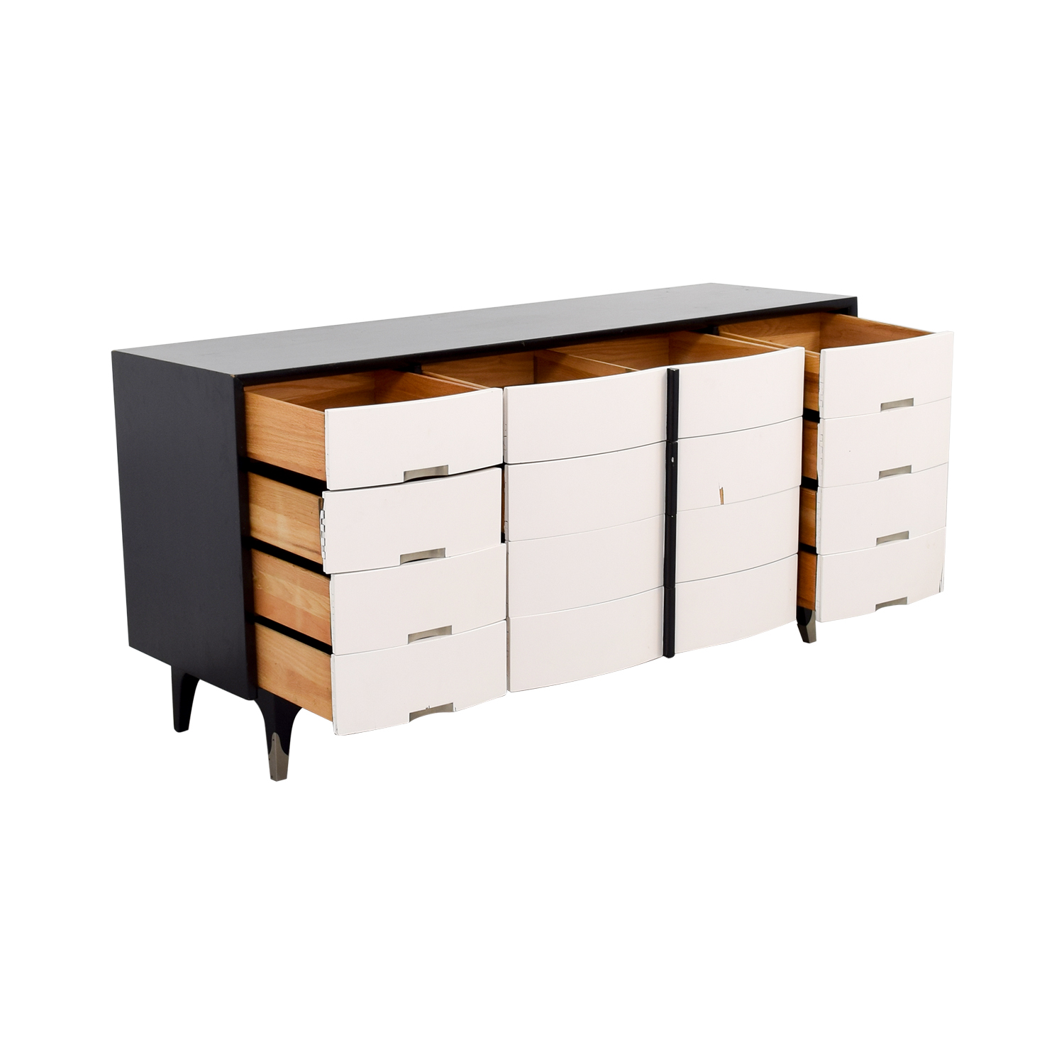 American of Martinsville American of Martinsville Black and White Buffet Table or Credenza second hand