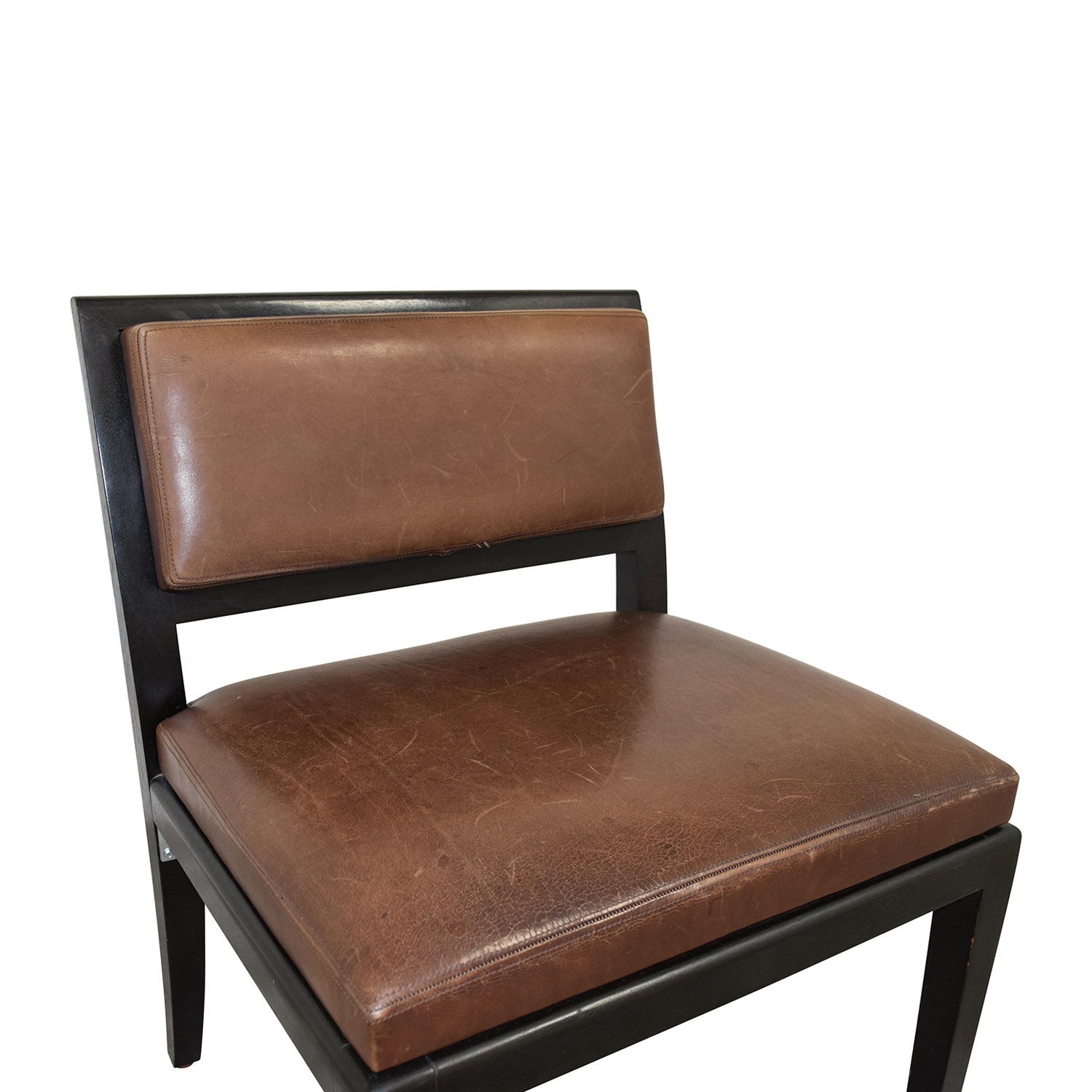 50% OFF Richard Michaan Richard Michaan Brown Leather Chair Chairs