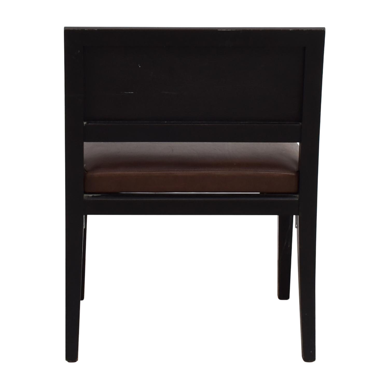 Richard Michaan Richard Michaan Brown Leather Chair price