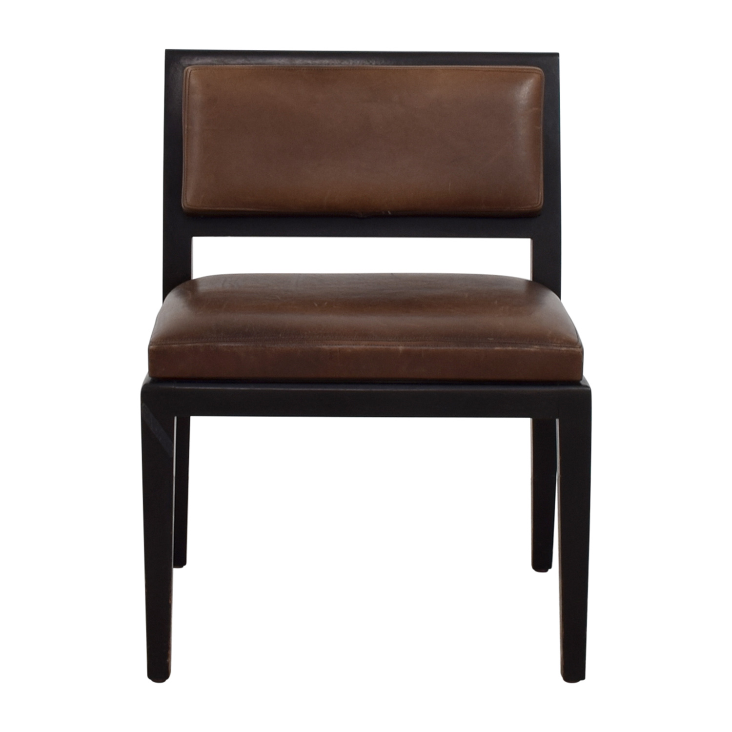 Richard Michaan Richard Michaan Brown Leather Chair dimensions