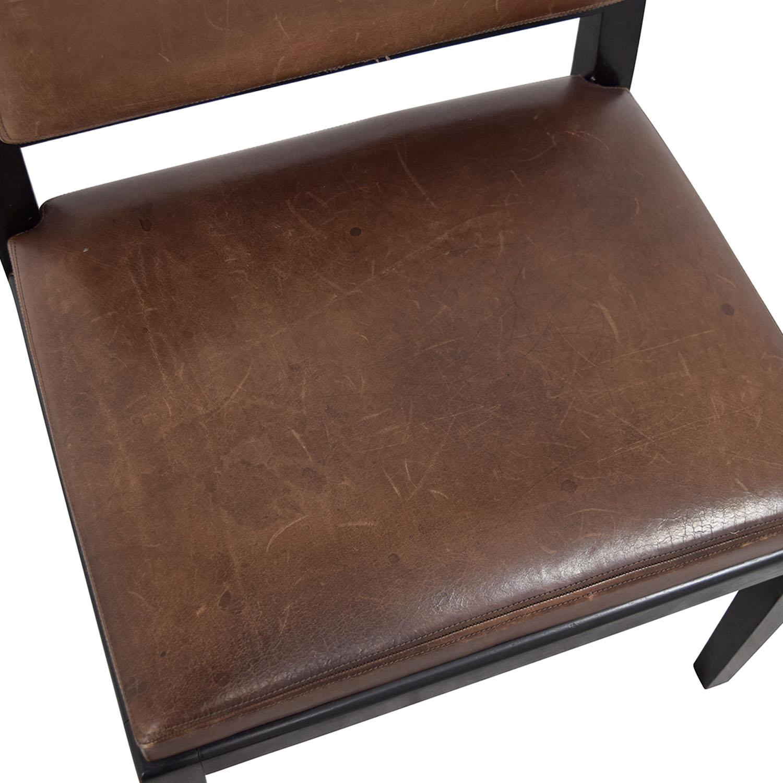 50% OFF Richard Michaan Richard Michaan Brown Leather Chair Chairs
