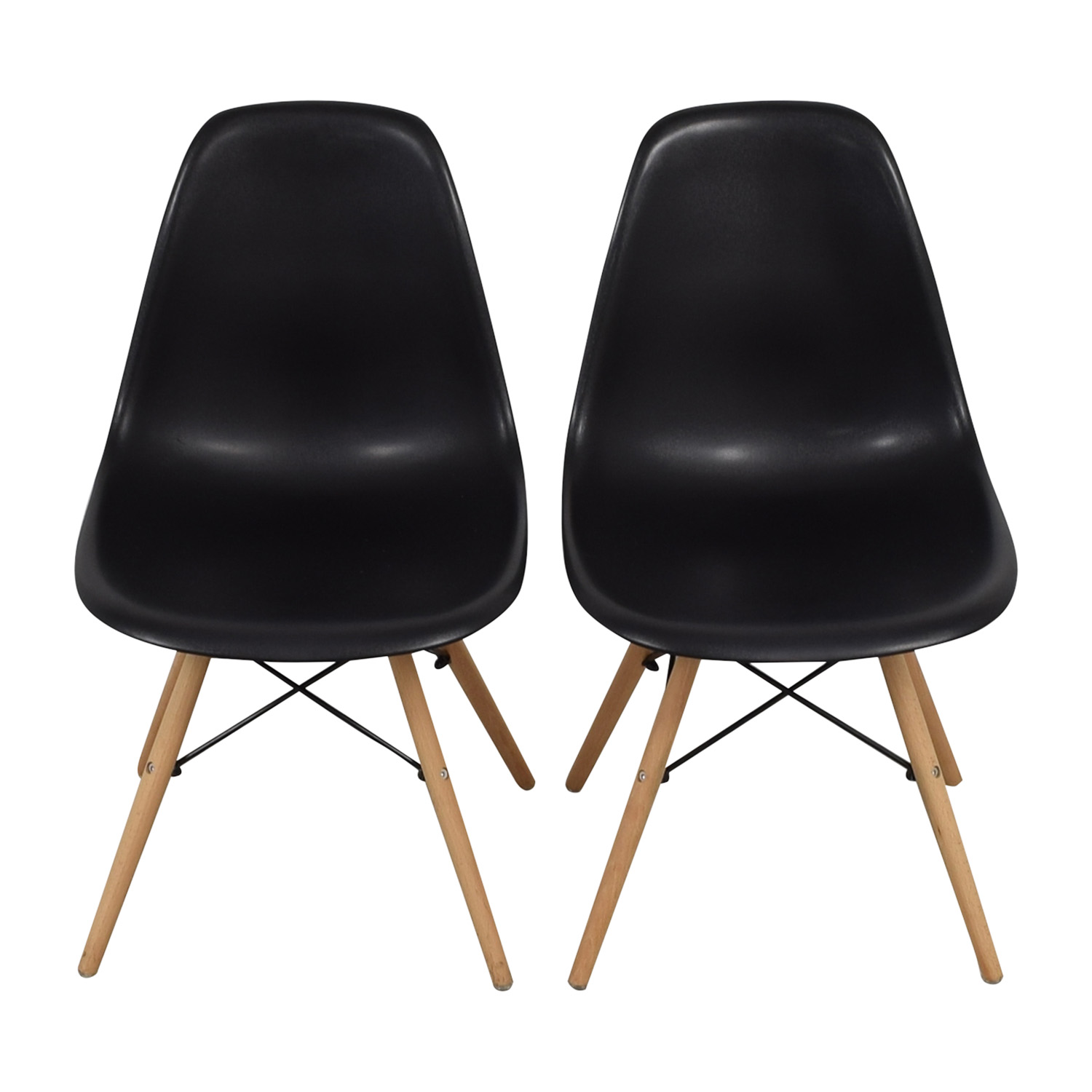 CB2 CB2 Black and Beech Wood Chairs price