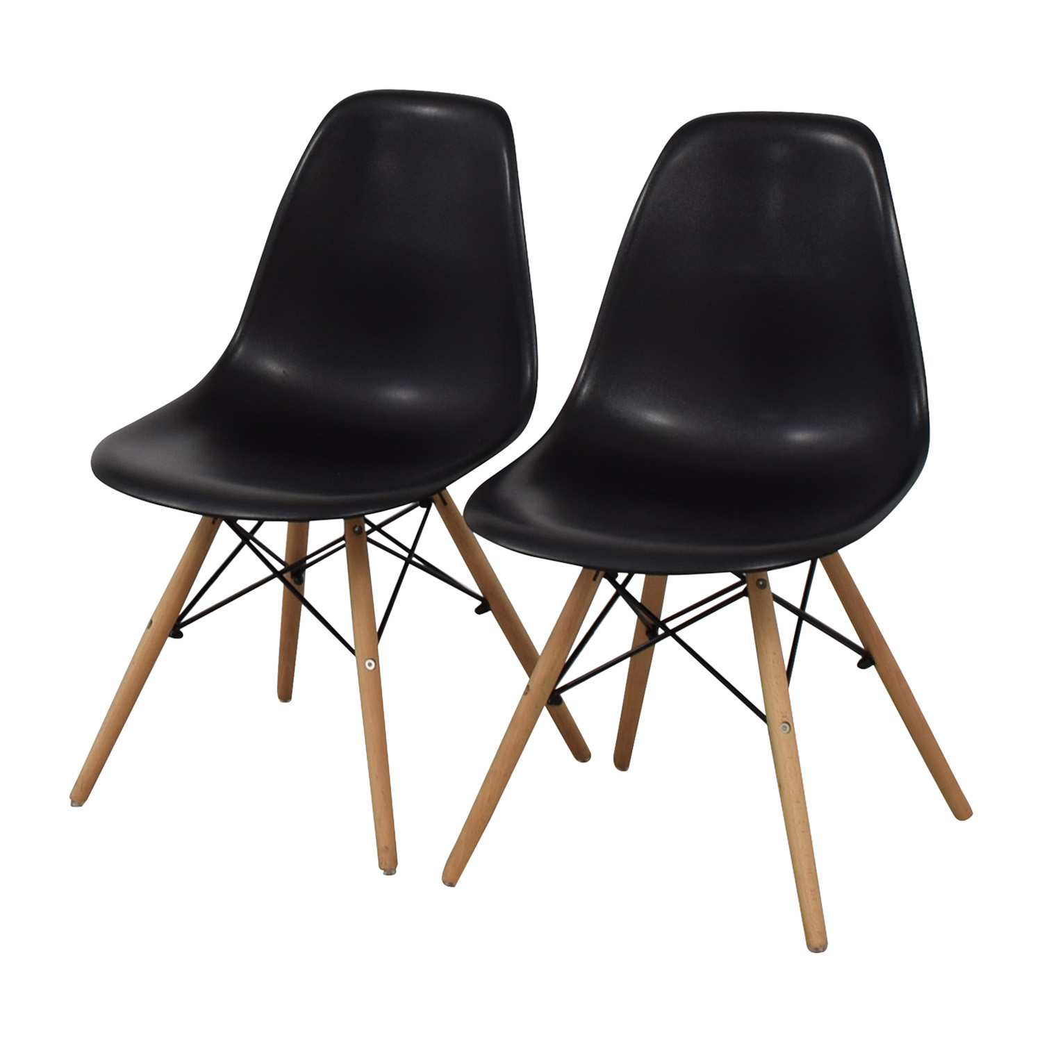 buy CB2 Black and Beech Wood Chairs CB2 Chairs