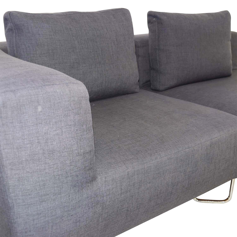 CB2 CB2 Two-Piece Navy Sofa used