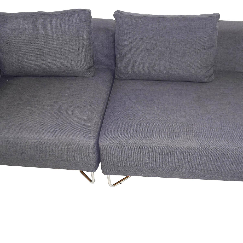 buy CB2 Two-Piece Navy Sofa CB2 Sofas
