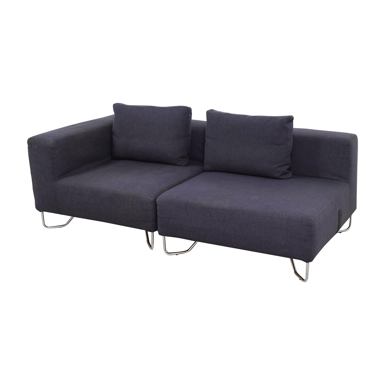 buy CB2 Two-Piece Navy Sofa CB2 Classic Sofas