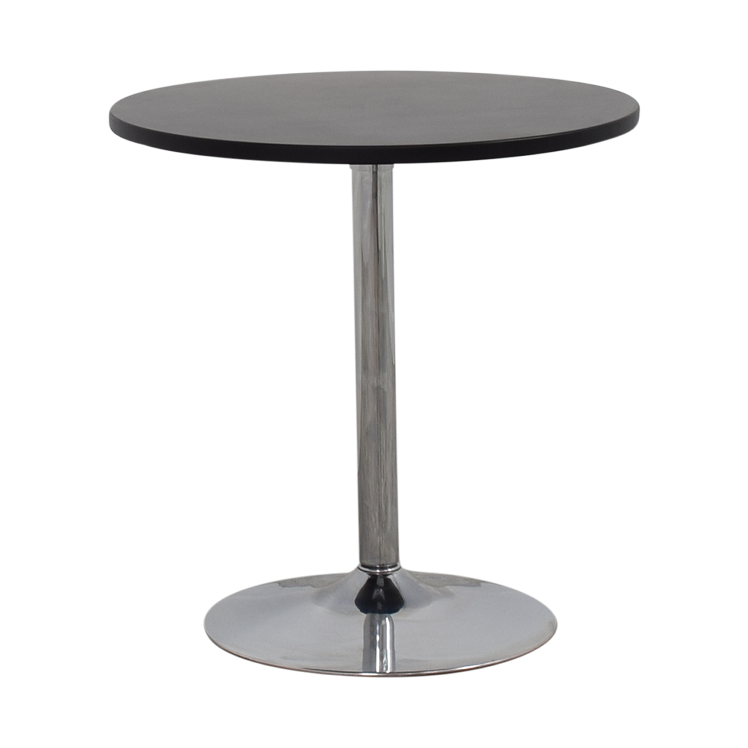 buy CB2 Wood and Chrome Cafe Table CB2
