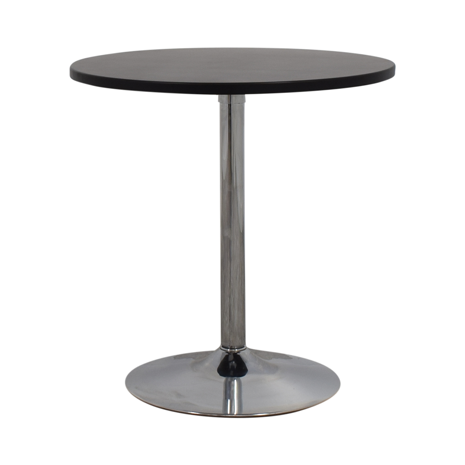 shop CB2 Wood and Chrome Cafe Table CB2 Dinner Tables