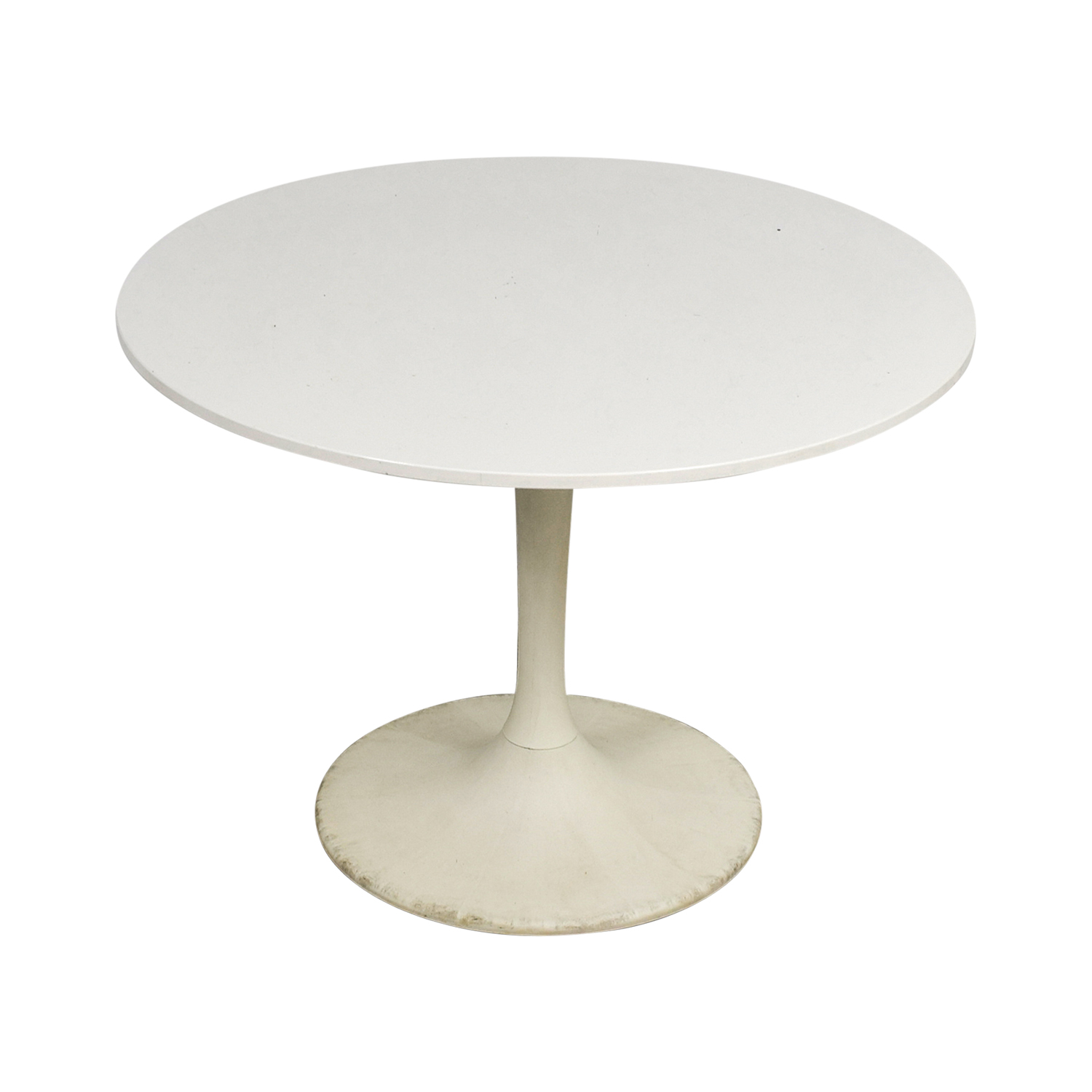 Jetson White Round Table second hand