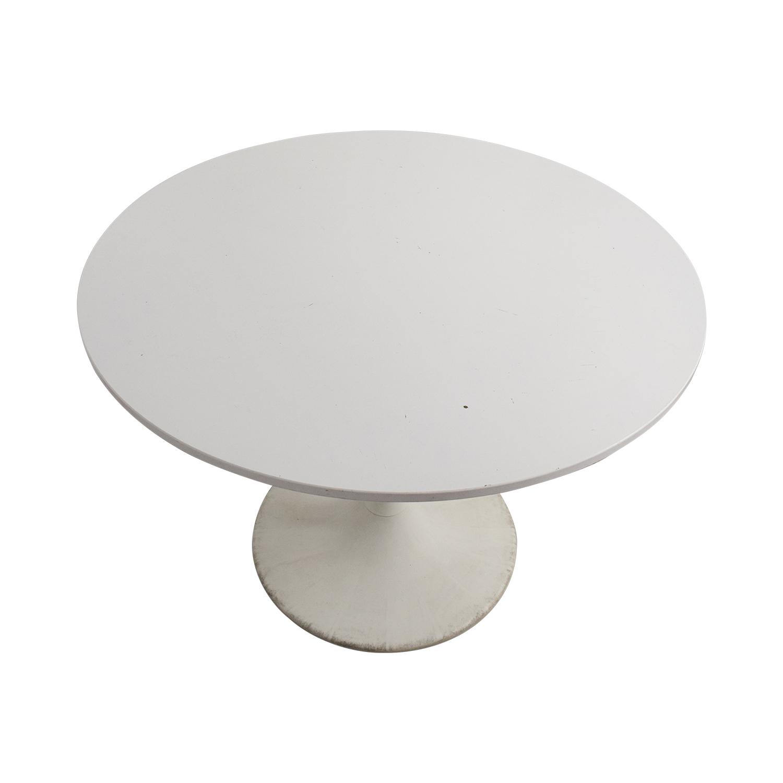 Jetson White Round Table White