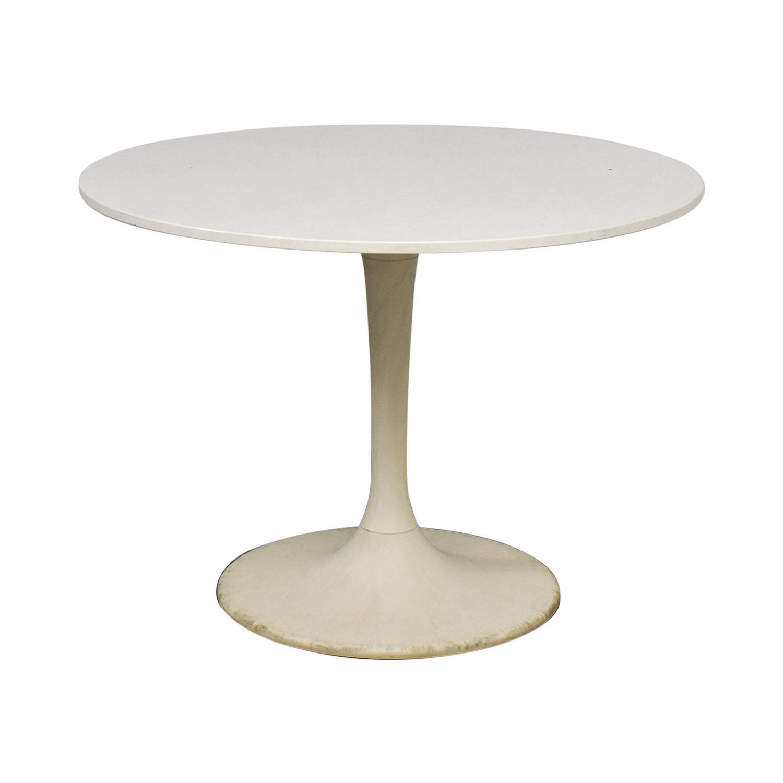 Jetson White Round Table nj