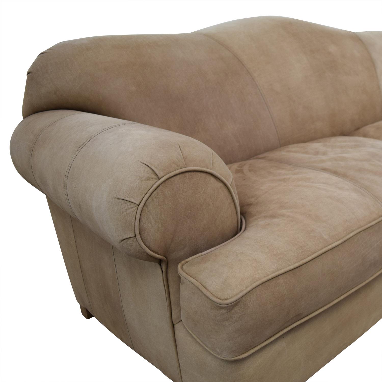 Kincaid Kincaid Camelback Beige Suede Sofa discount