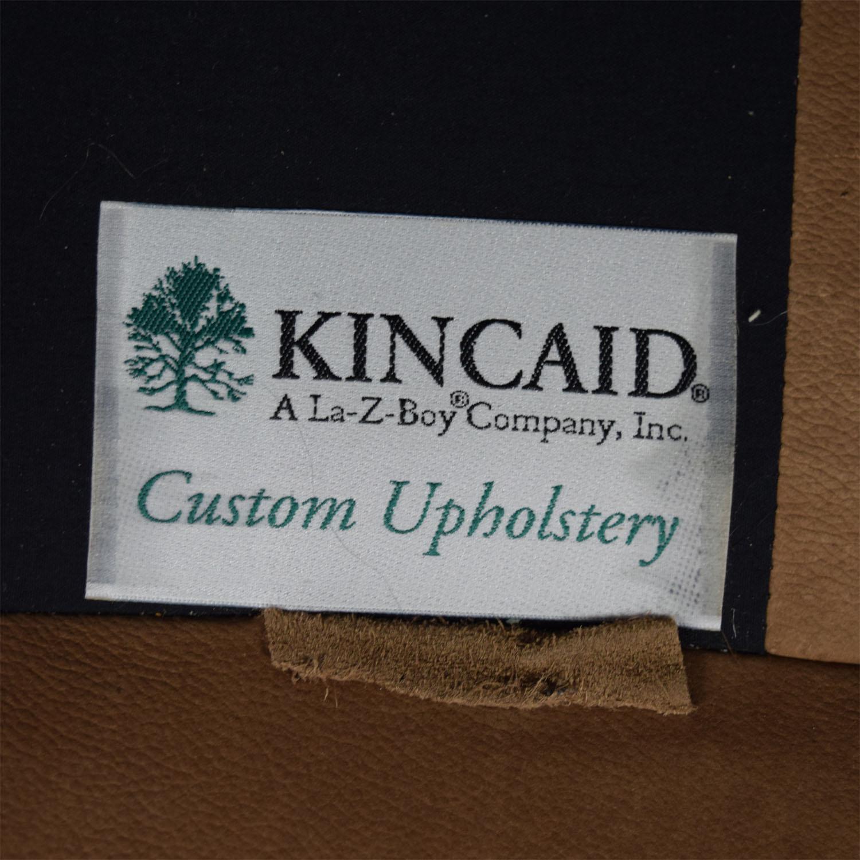Kincaid Kincaid Camelback Beige Suede Sofa