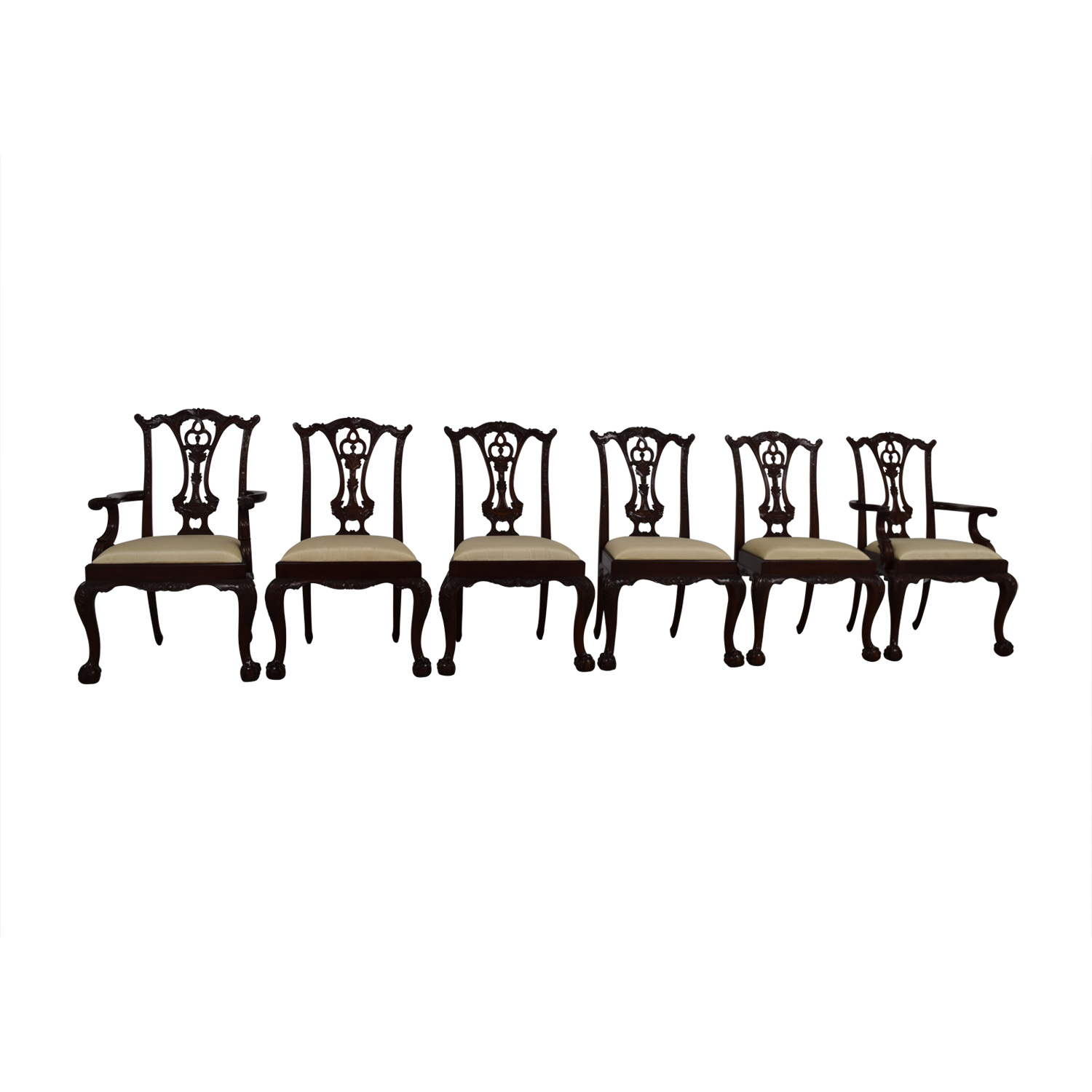 Maitland Smith Maitland Smith Hand Carved Mahogany Chairs nj