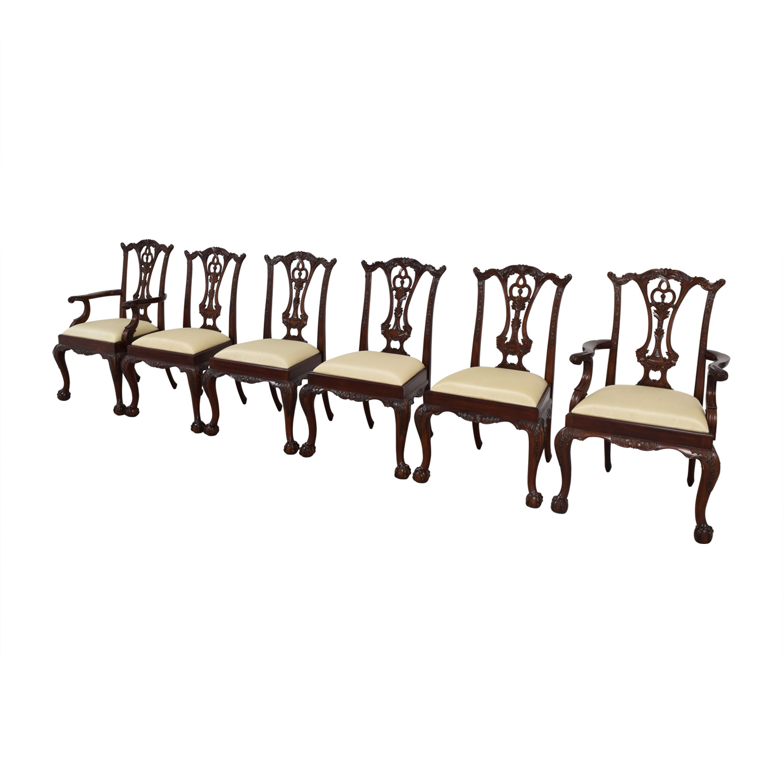 Maitland Smith Maitland Smith Hand Carved Mahogany Chairs on sale