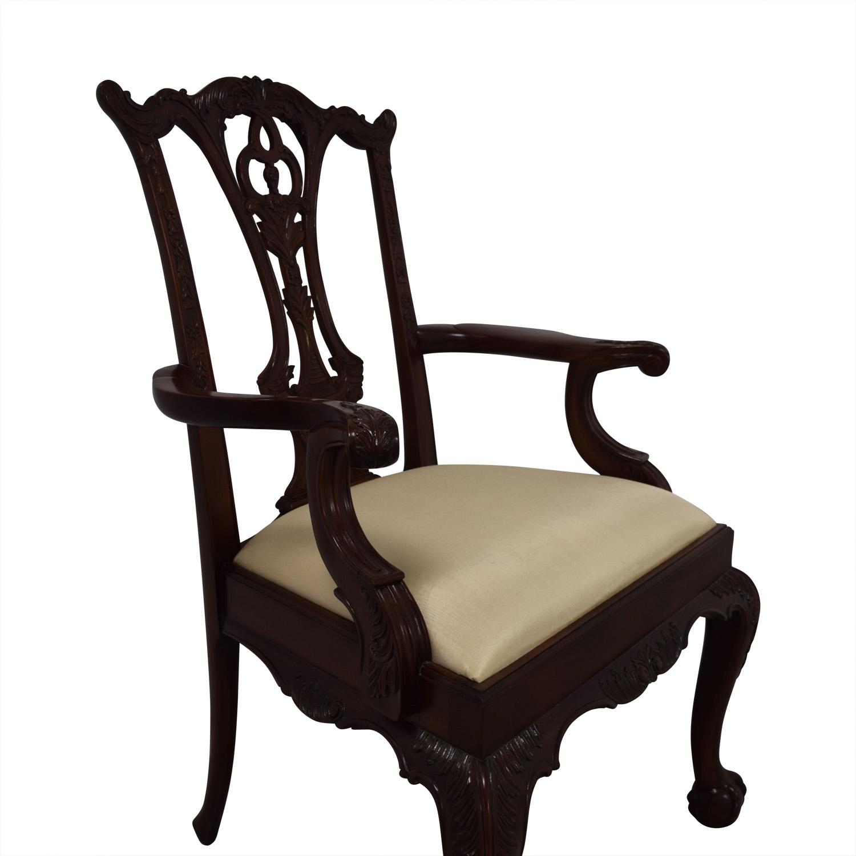 Maitland Smith Maitland Smith Hand Carved Mahogany Chairs nj