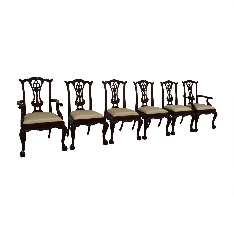 Maitland Smith Maitland Smith Hand Carved Mahogany Chairs coupon