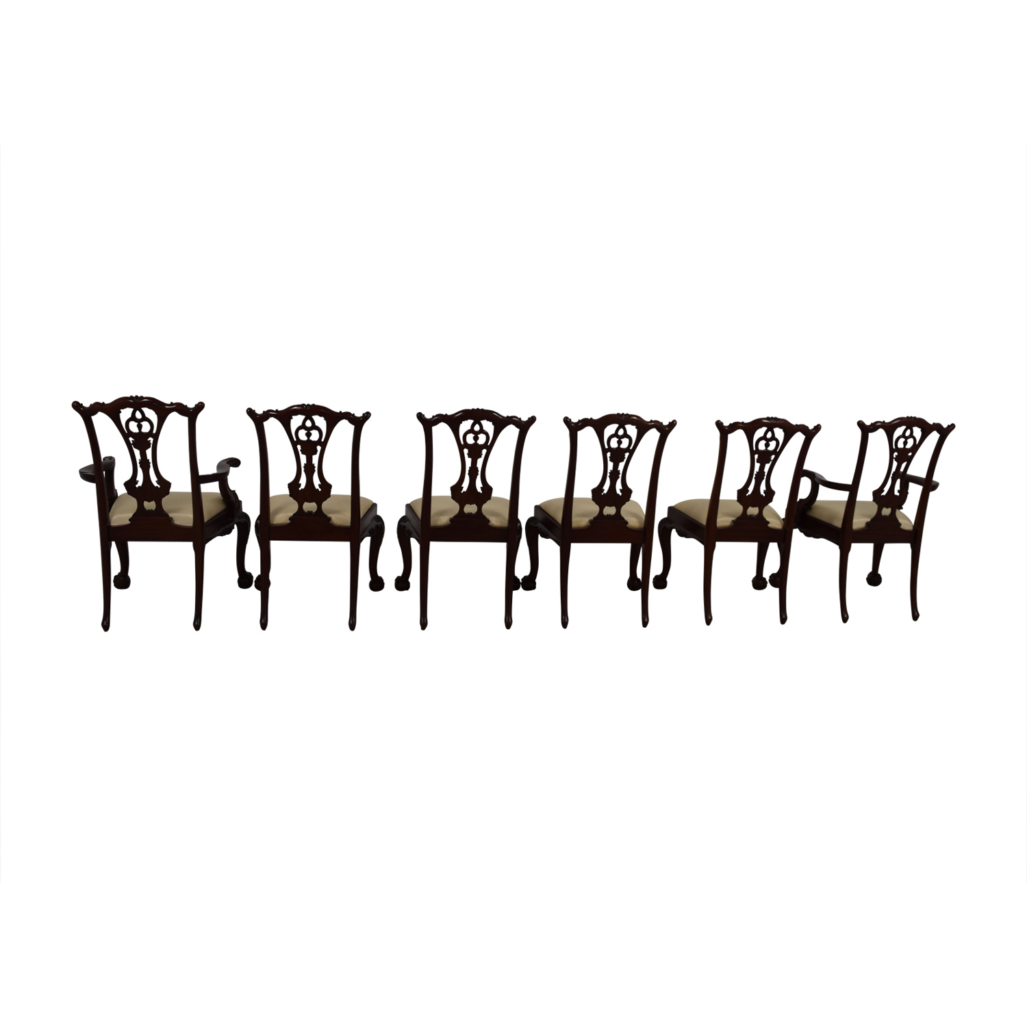 Maitland Smith Maitland Smith Hand Carved Mahogany Chairs nyc