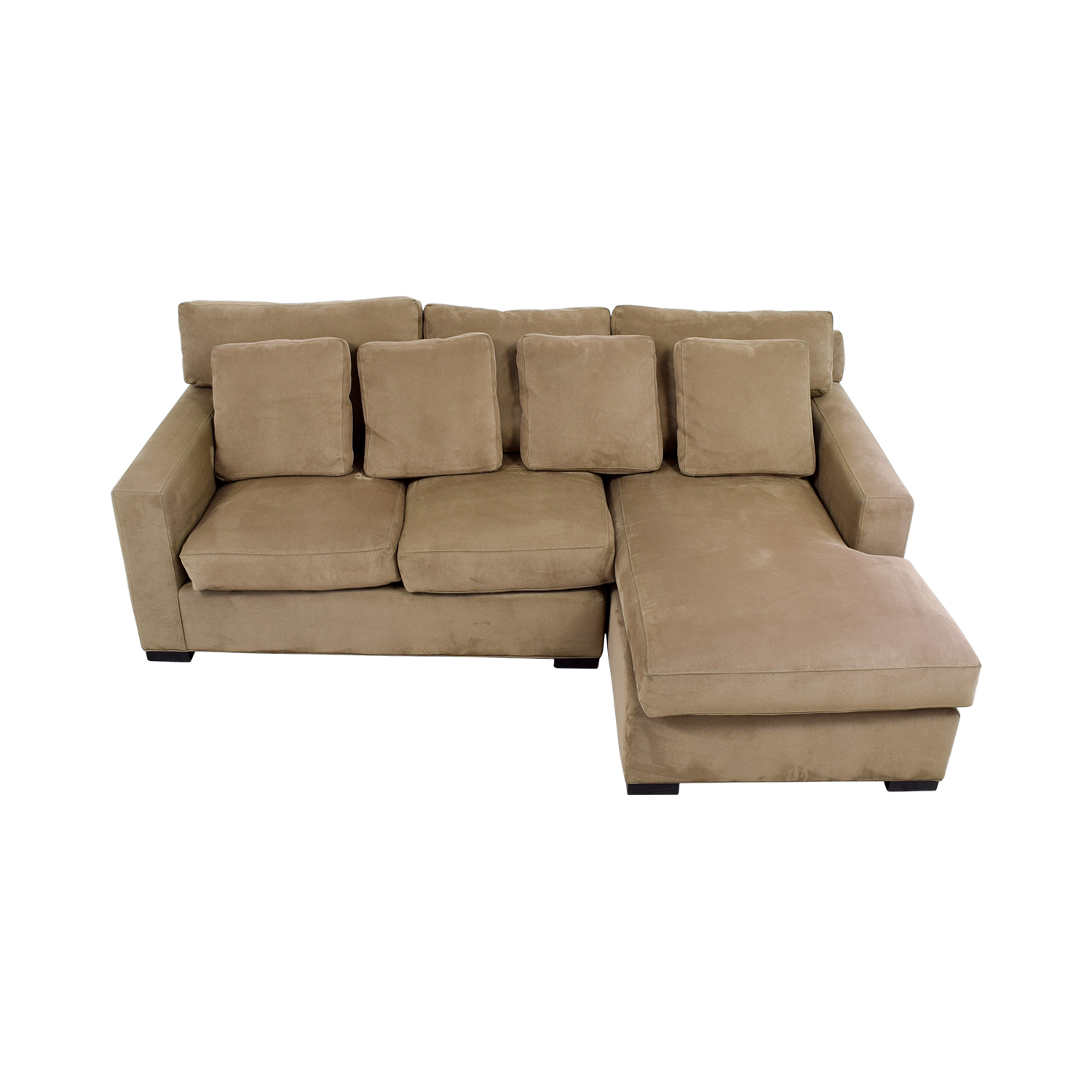 Crate & Barrel Axis Tan Right Arm Chaise Lounge / Sectionals