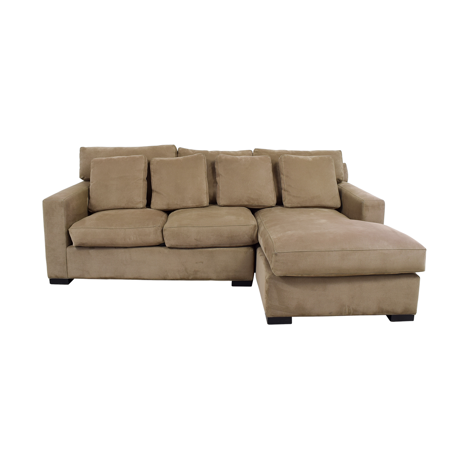 shop Crate & Barrel Axis Tan Right Arm Chaise Lounge Crate & Barrel