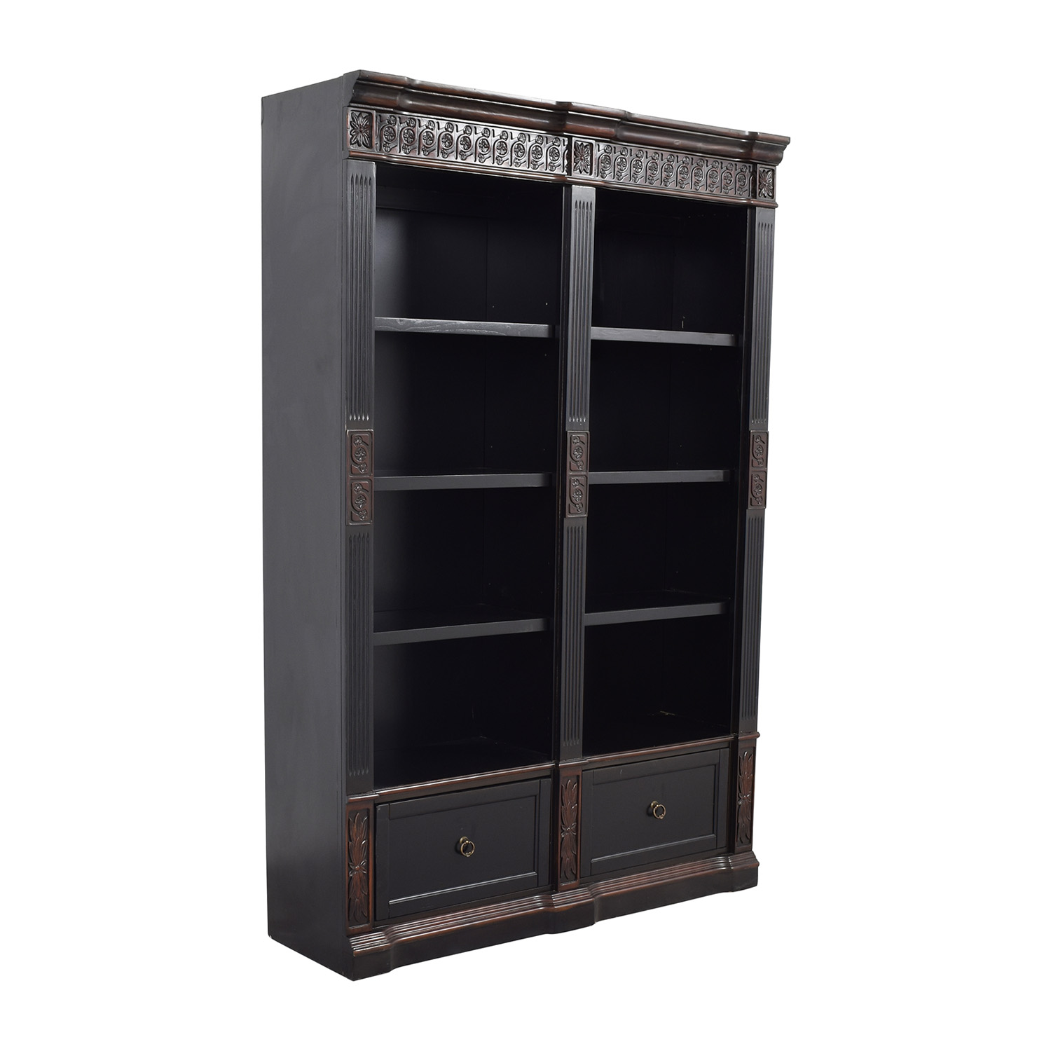 Coaster Furniture Coaster Furnitiure Nicolas Traditional Carved Double Bookcase coupon