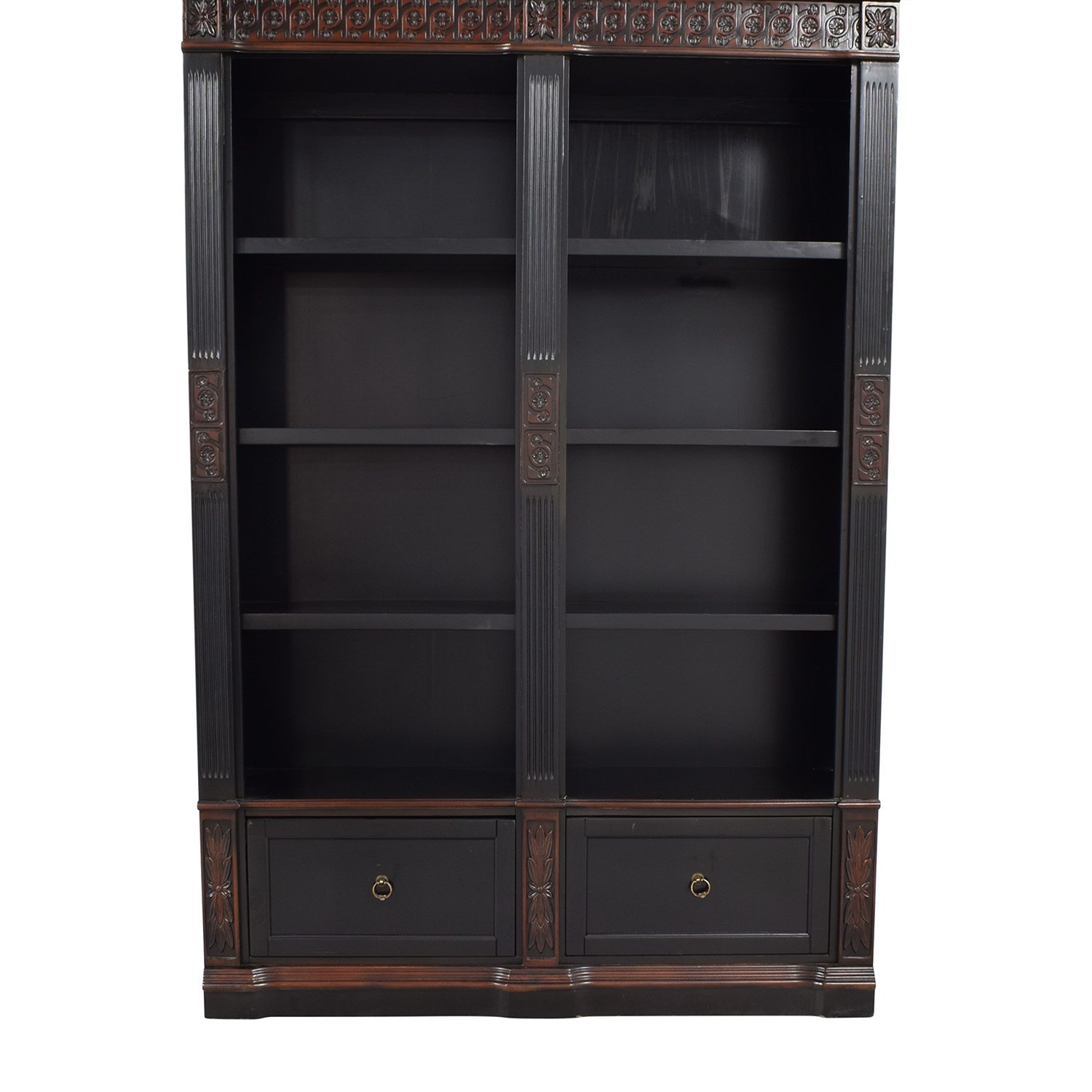 Coaster Furnitiure Nicolas Traditional Carved Double Bookcase sale