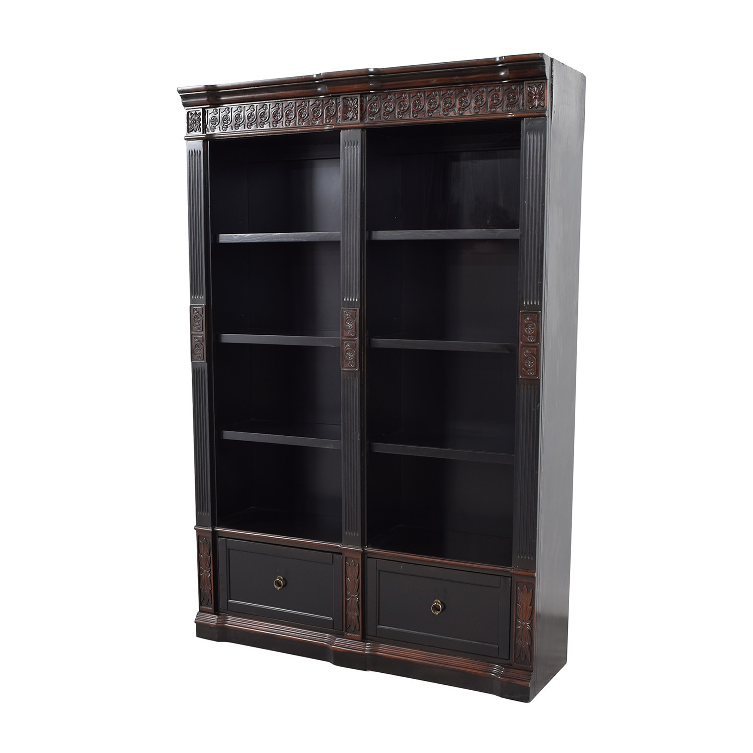 shop Coaster Furniture Coaster Furnitiure Nicolas Traditional Carved Double Bookcase online