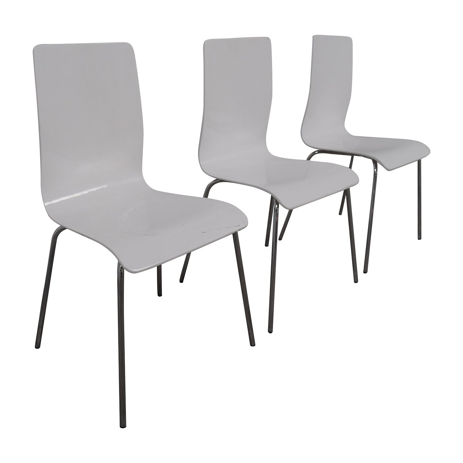 Newspec Modern Glossy White Dining Chairs sale