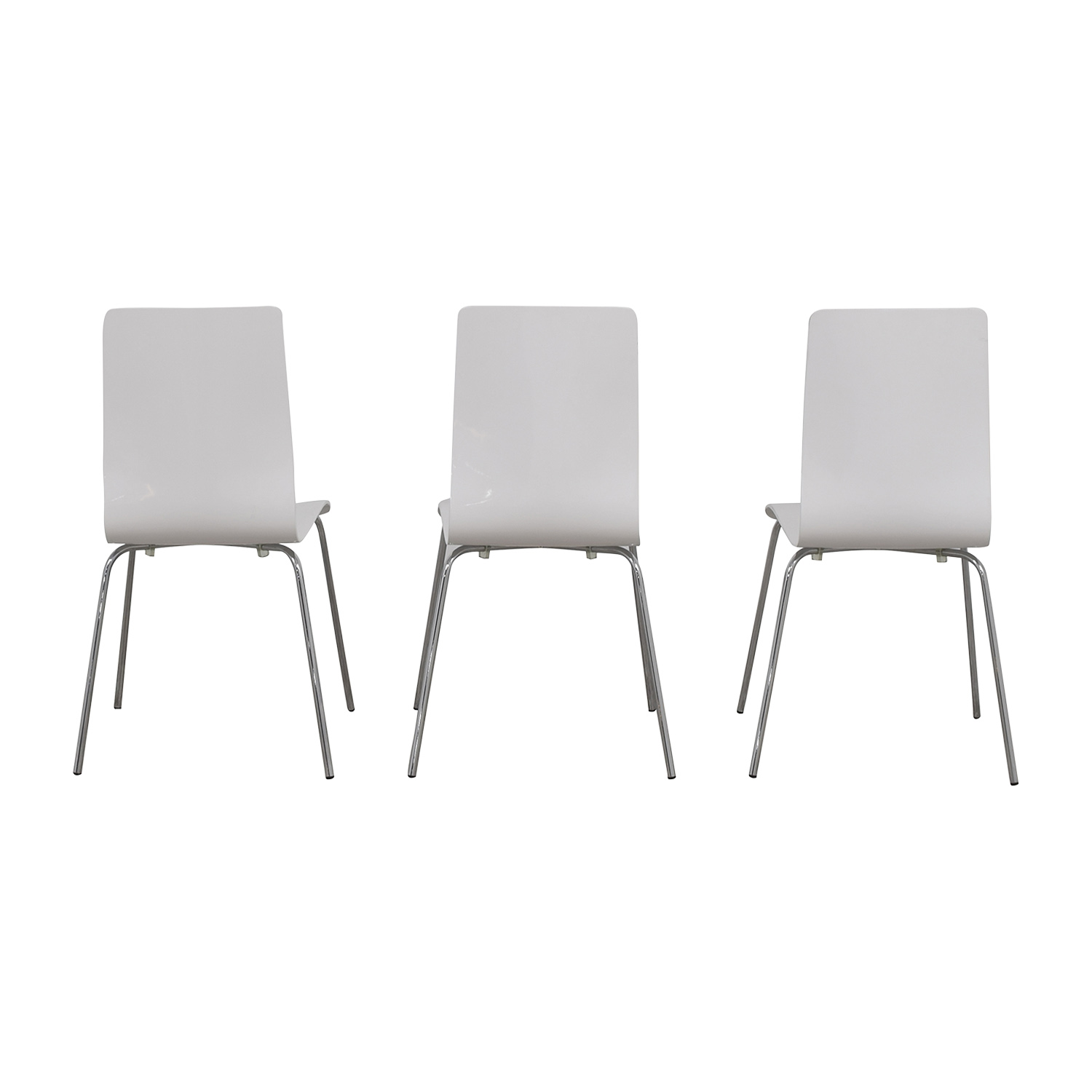 Newspec Newspec Modern Glossy White Dining Chairs nyc