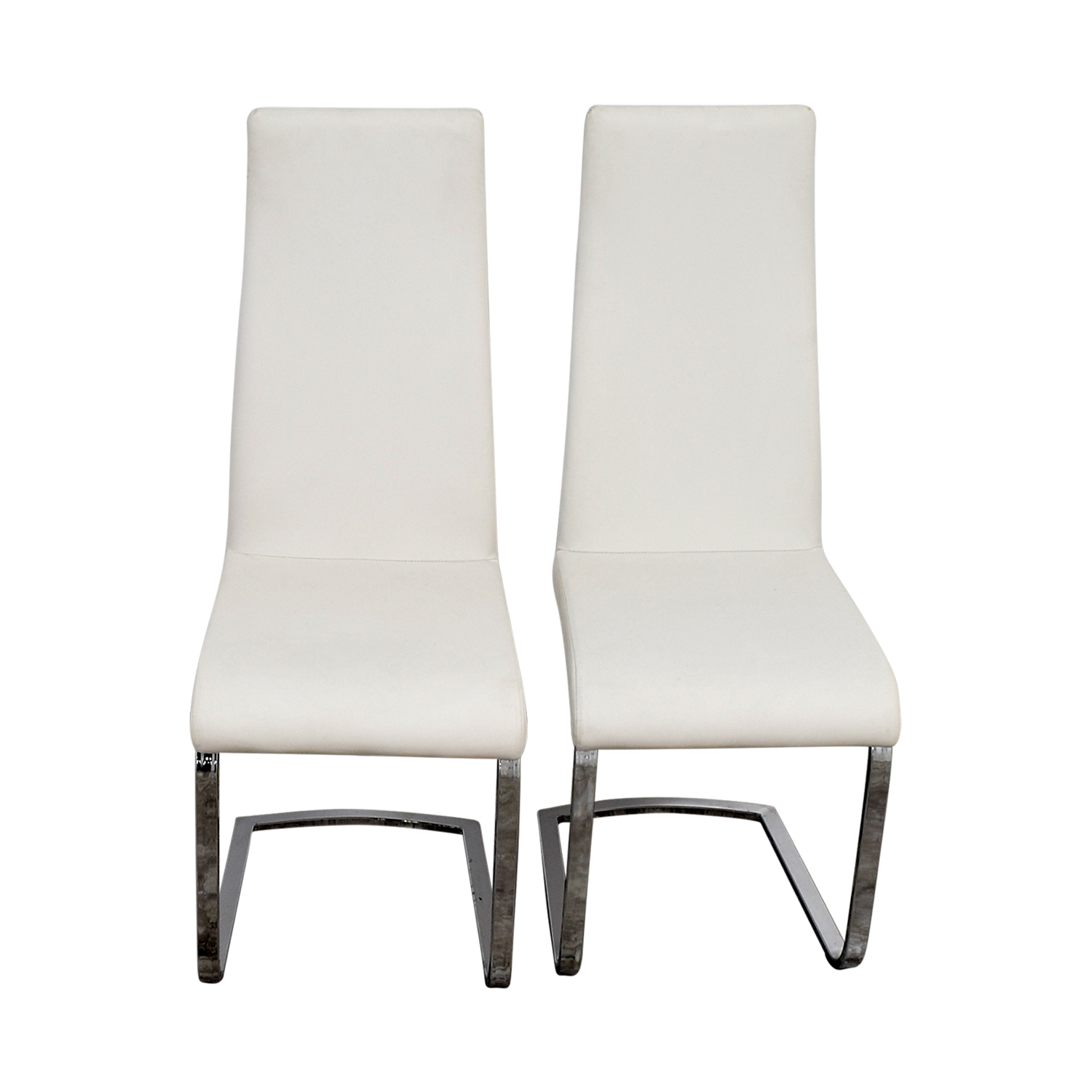 Coaster Furniture Coaster Furniture Breuer Style High Back Dining Chair in White Leatherette for sale