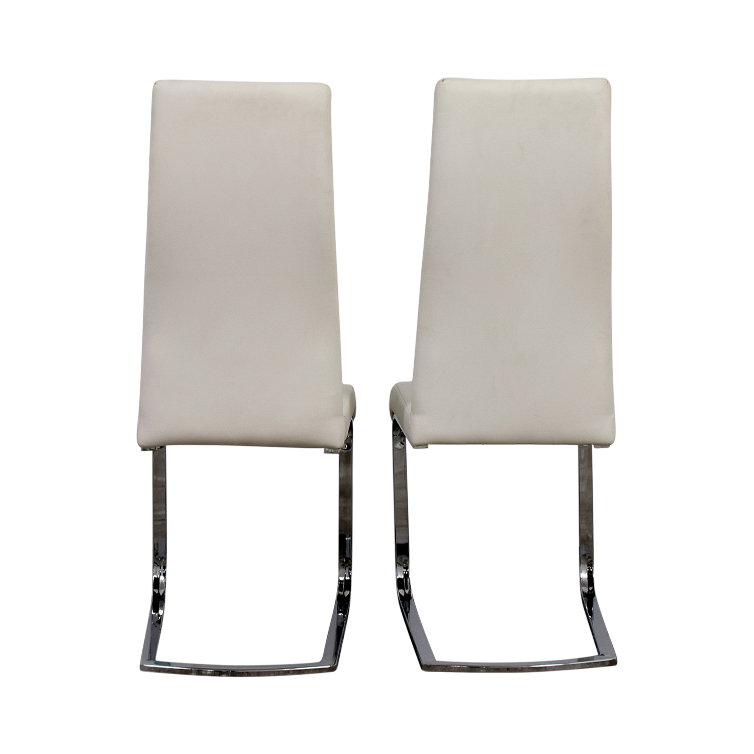 Coaster Furniture Coaster Furniture Breuer Style High Back Dining Chair in White Leatherette dimensions