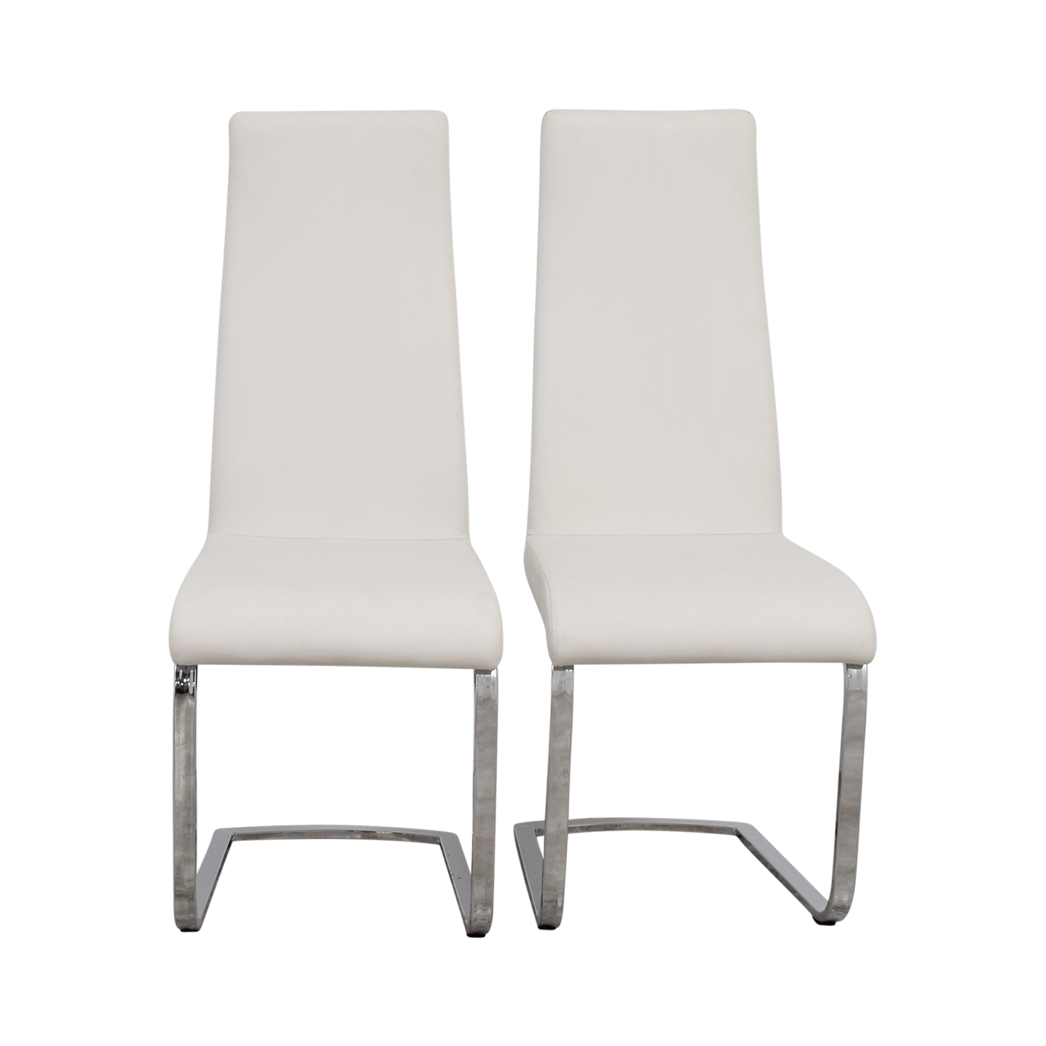 buy Coaster Furniture Breuer Style High Back Dining Chair in White Leatherette Coaster Furniture