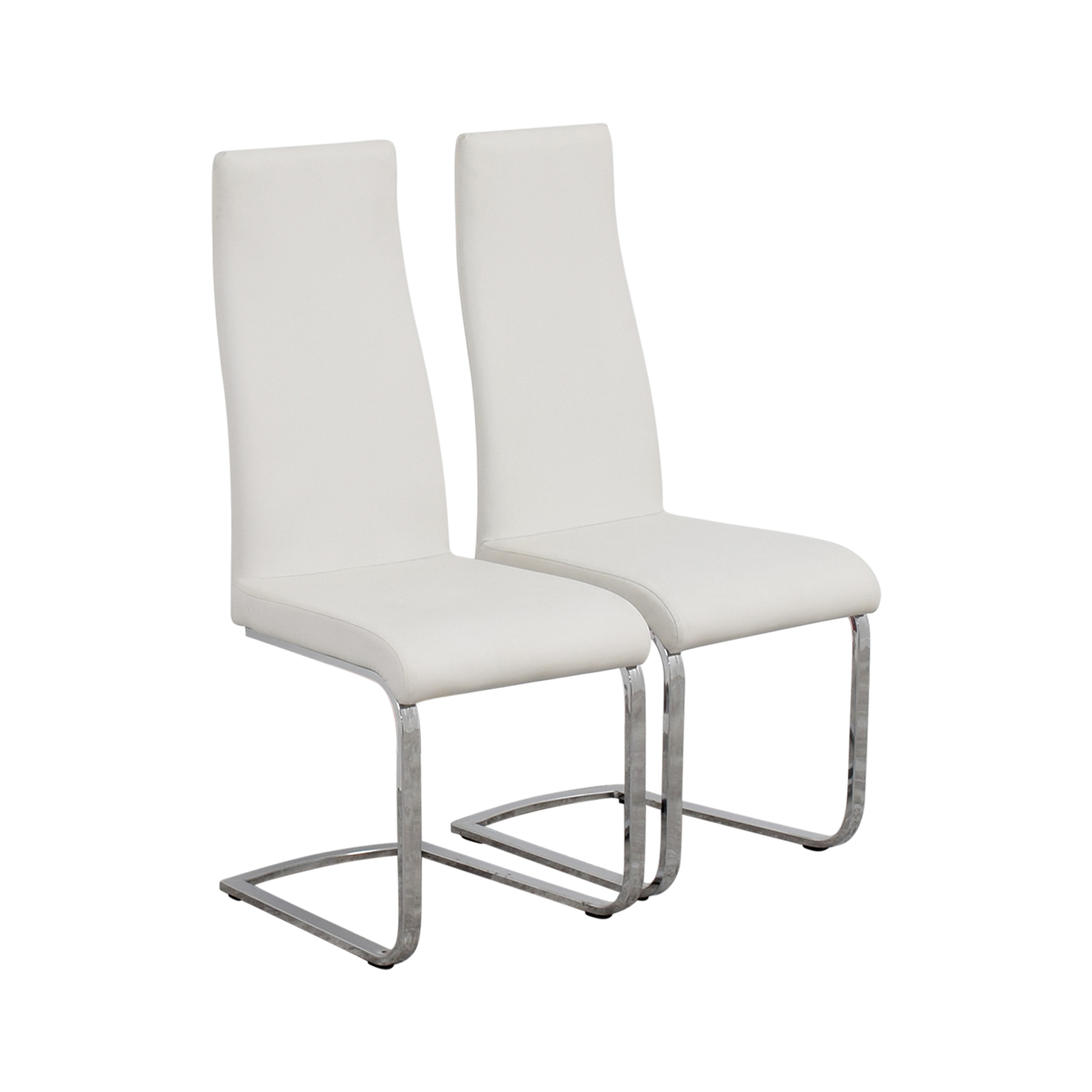 buy Coaster Furniture Breuer Style High Back Dining Chair in White Leatherette Coaster Furniture Dining Chairs